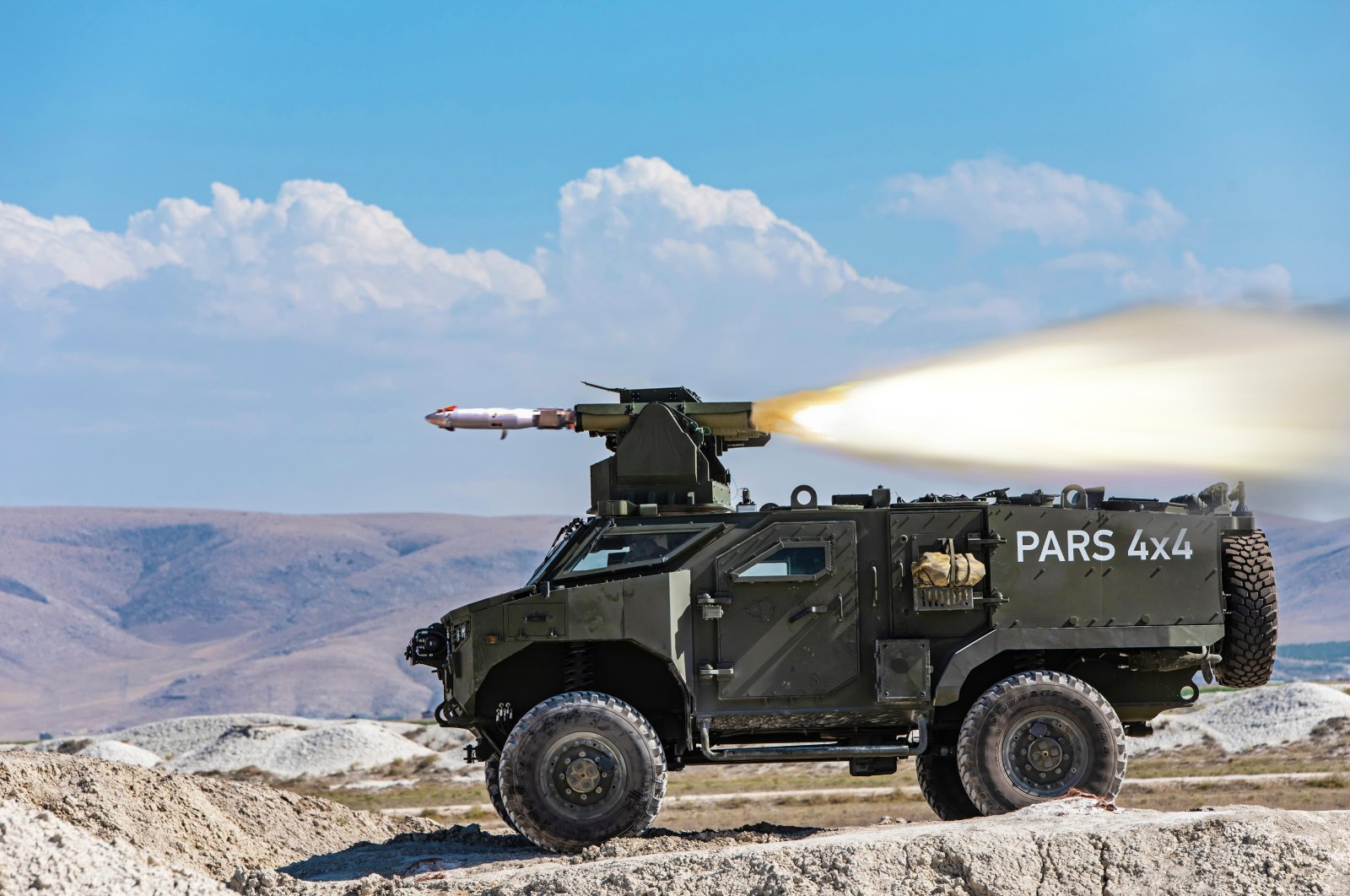 Pars 4x4 vehicle seen in this photo provided on Aug. 21, 2021. (Courtesy of FNSS)