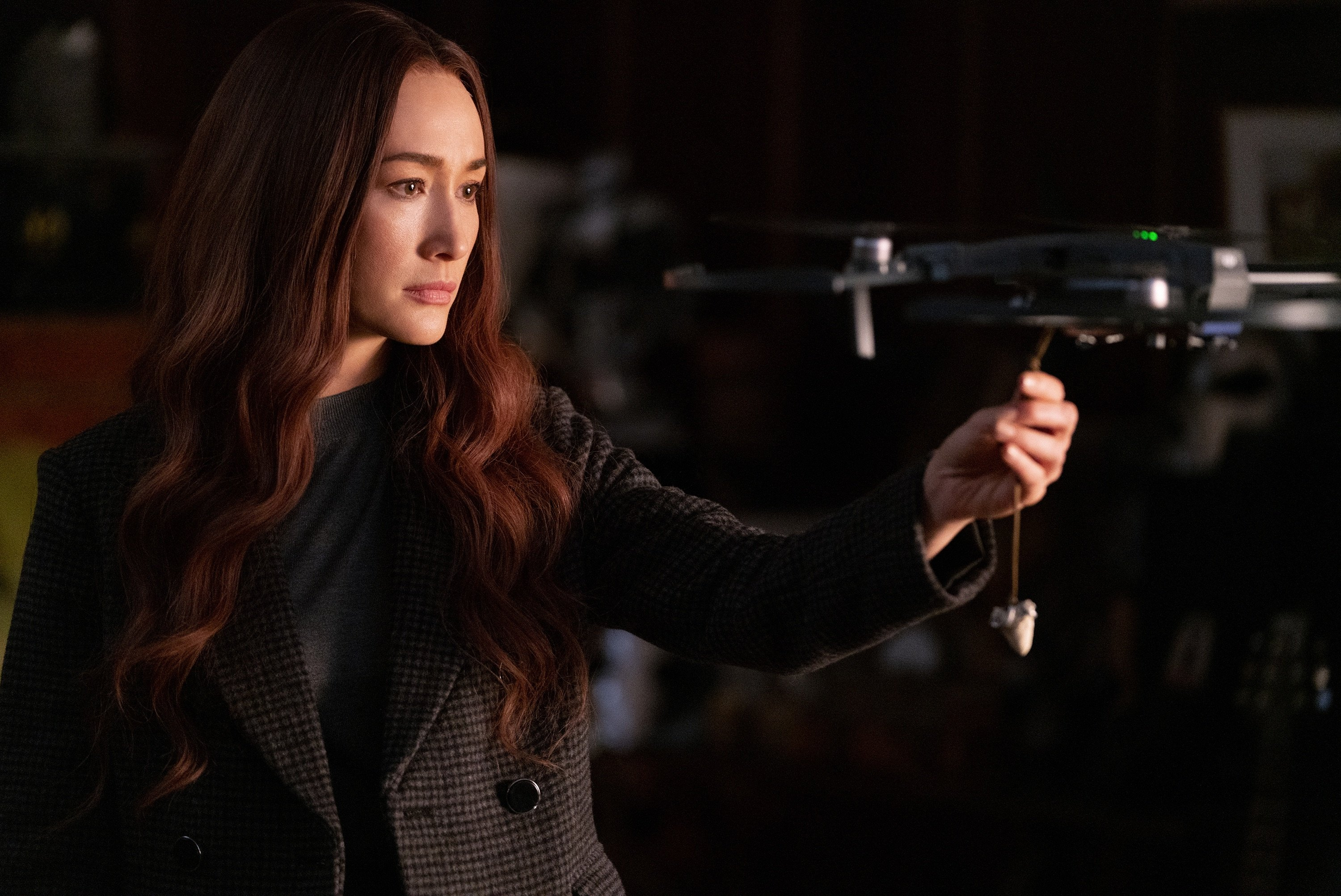 """Maggie Q as Anna, in a scene from the film """"The Protege."""" (Lionsgate via AP)"""