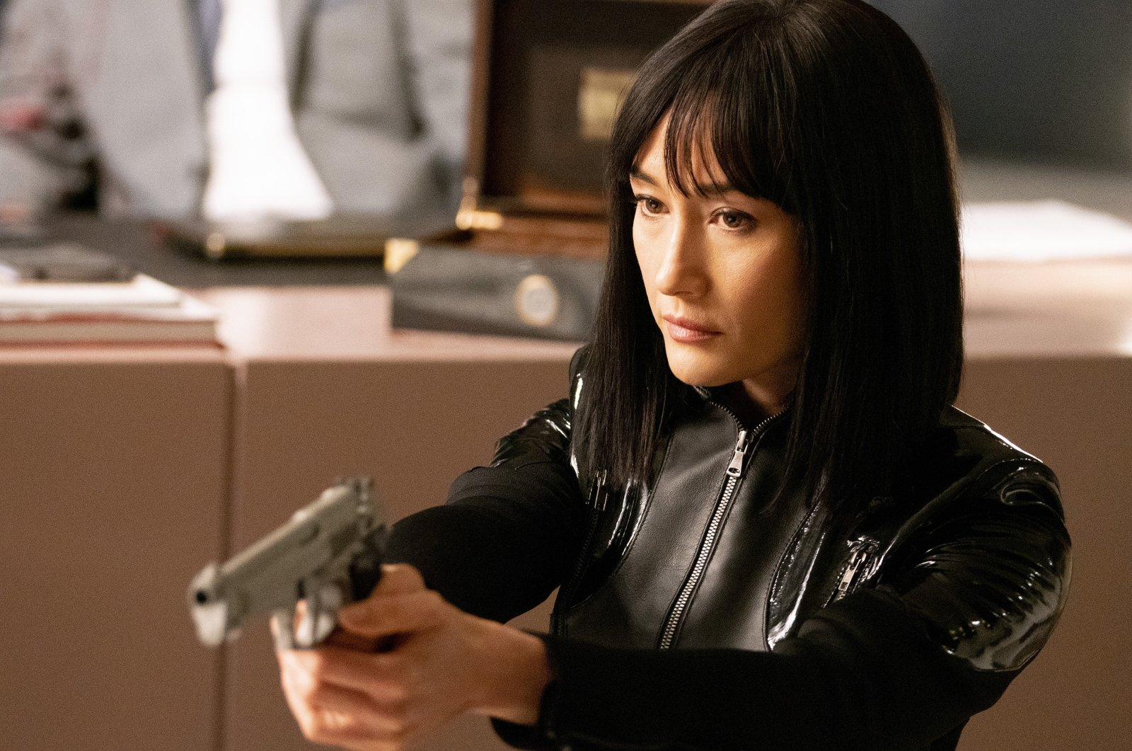 """Maggie Q as Anna,in a scene from the film """"The Protege."""" (Lionsgate via AP)"""