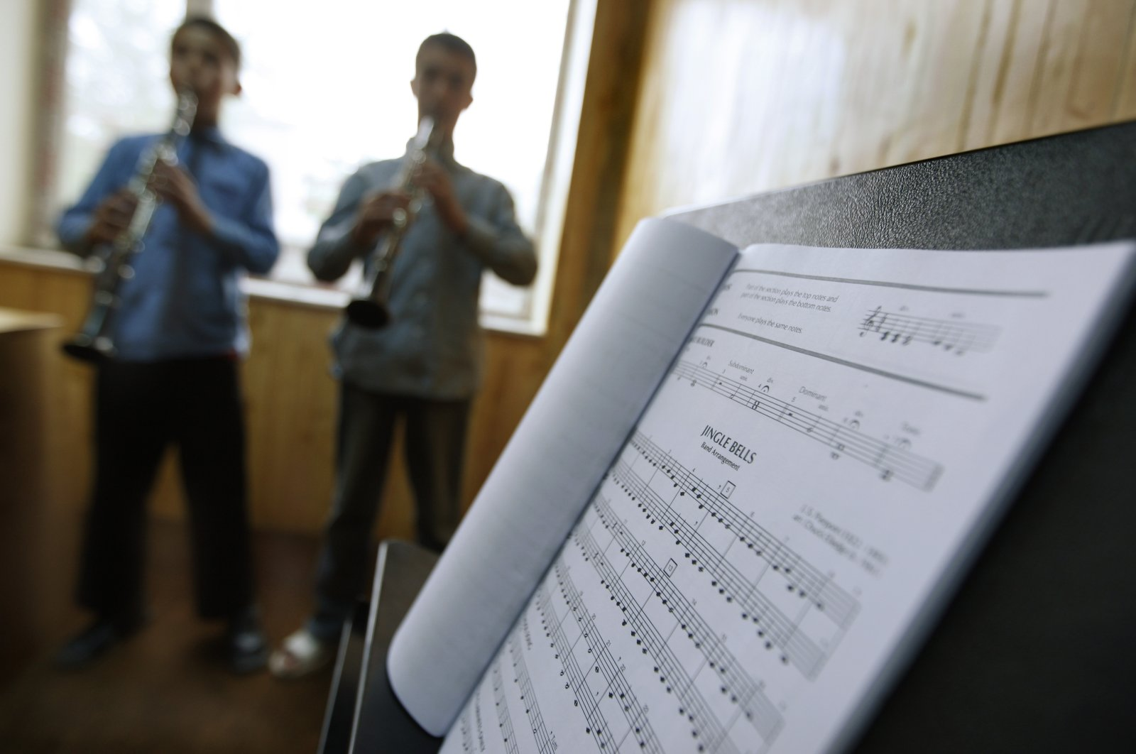 Students learn to play music at the Afgan National Institute of Music, ANIM, in Kabul, Afghanistan, May 11, 2010.   (AP Photo/File)