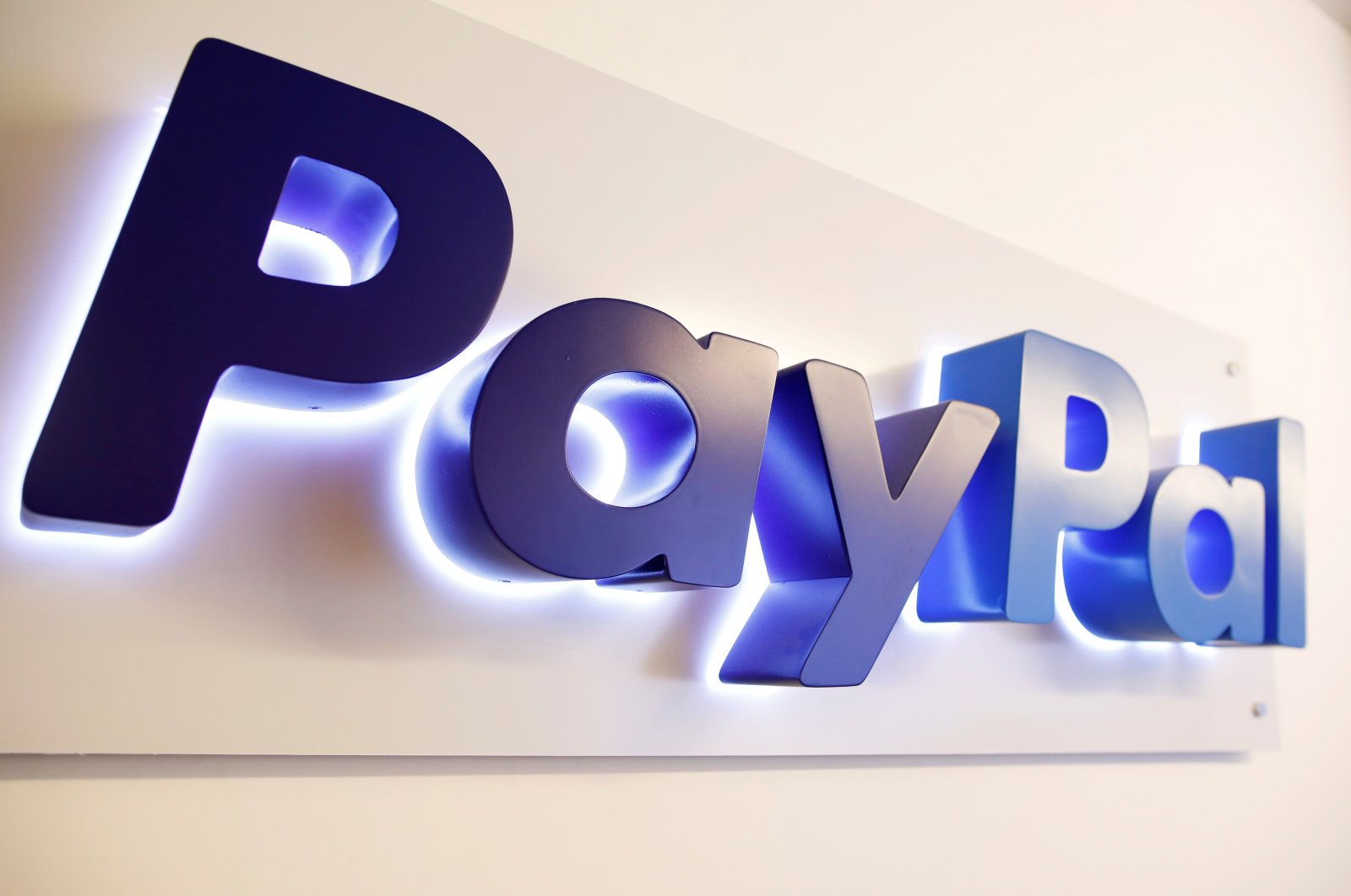 The PayPal logo is seen at a high-tech park in Beersheba, southern Israel, Aug. 28, 2017. (Reuters Photo)