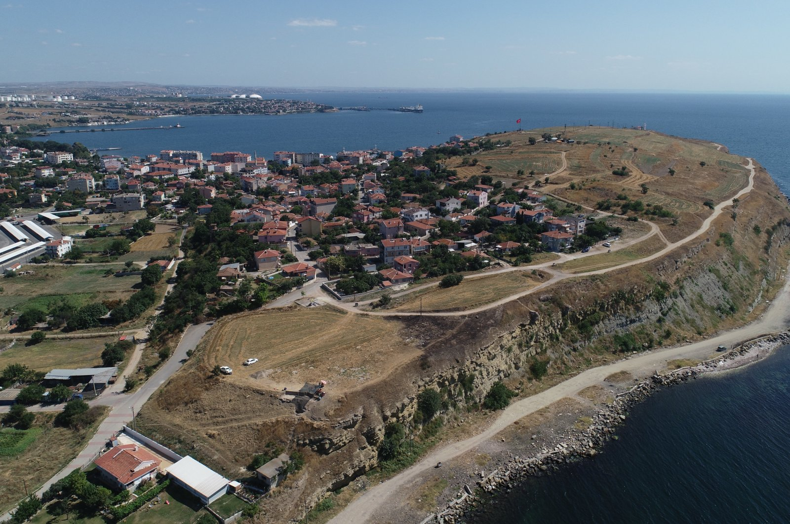 An aerial view from the ancient city of Perinthos, Tekirdağ, northwestern Turkey, August 20, 2021. (AA Photo)