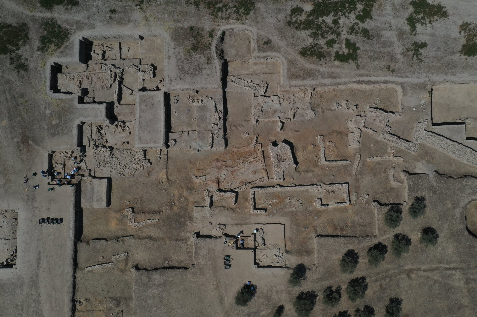 An aerial view from the Tepecik Mound, Aydın, western Turkey, Aug. 23, 2021. (AA Photo)