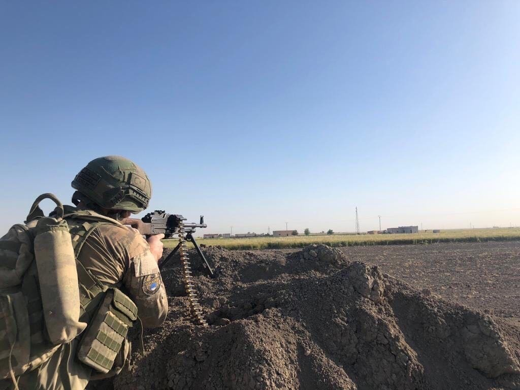 A Turkish soldier is seen during an operation in this photo shared by the Defense Ministry, Aug. 17, 2021 (DHA Photo)