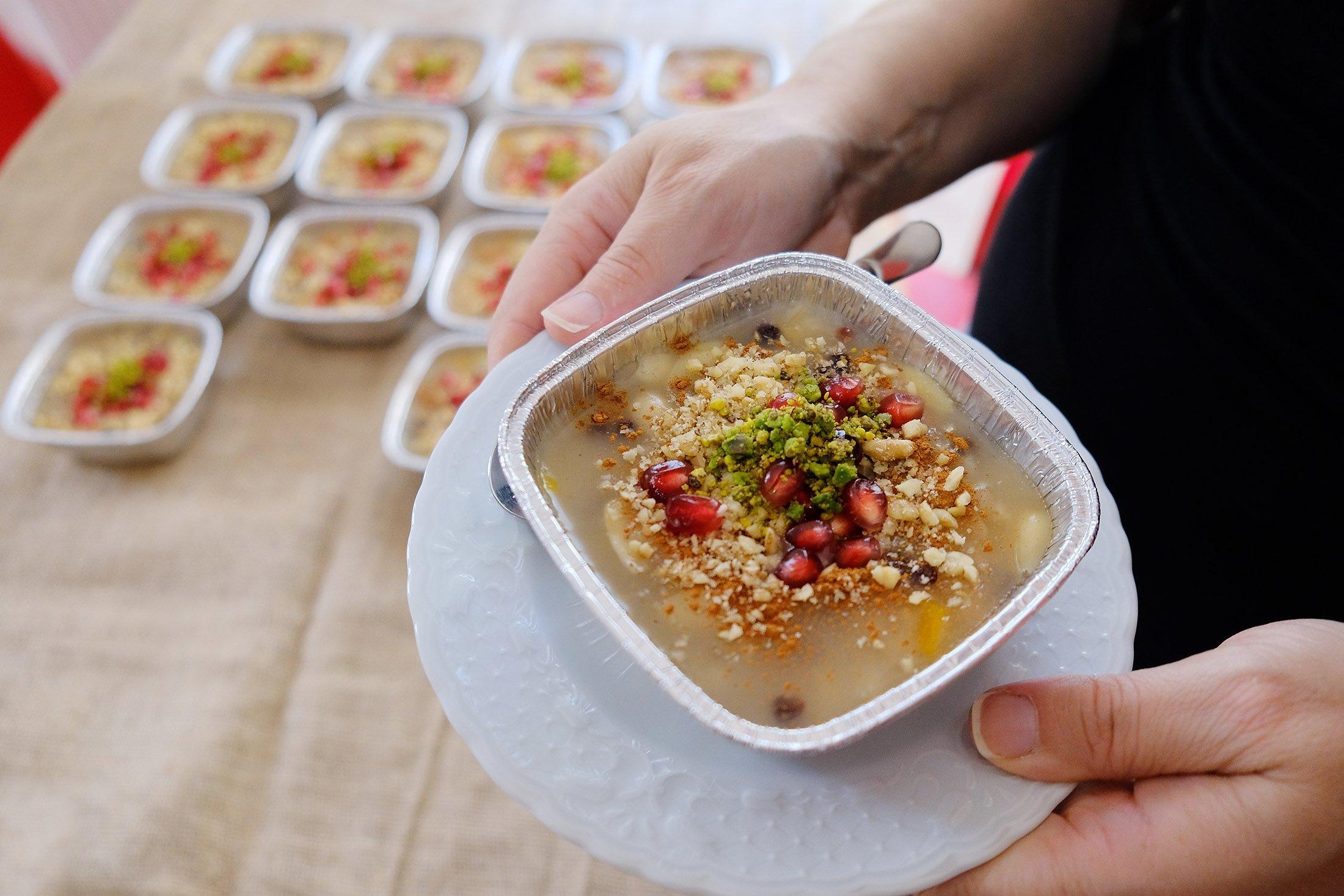 "The homemade traditional Turkish dessert ""aşure."" (Shutterstock Photo)"