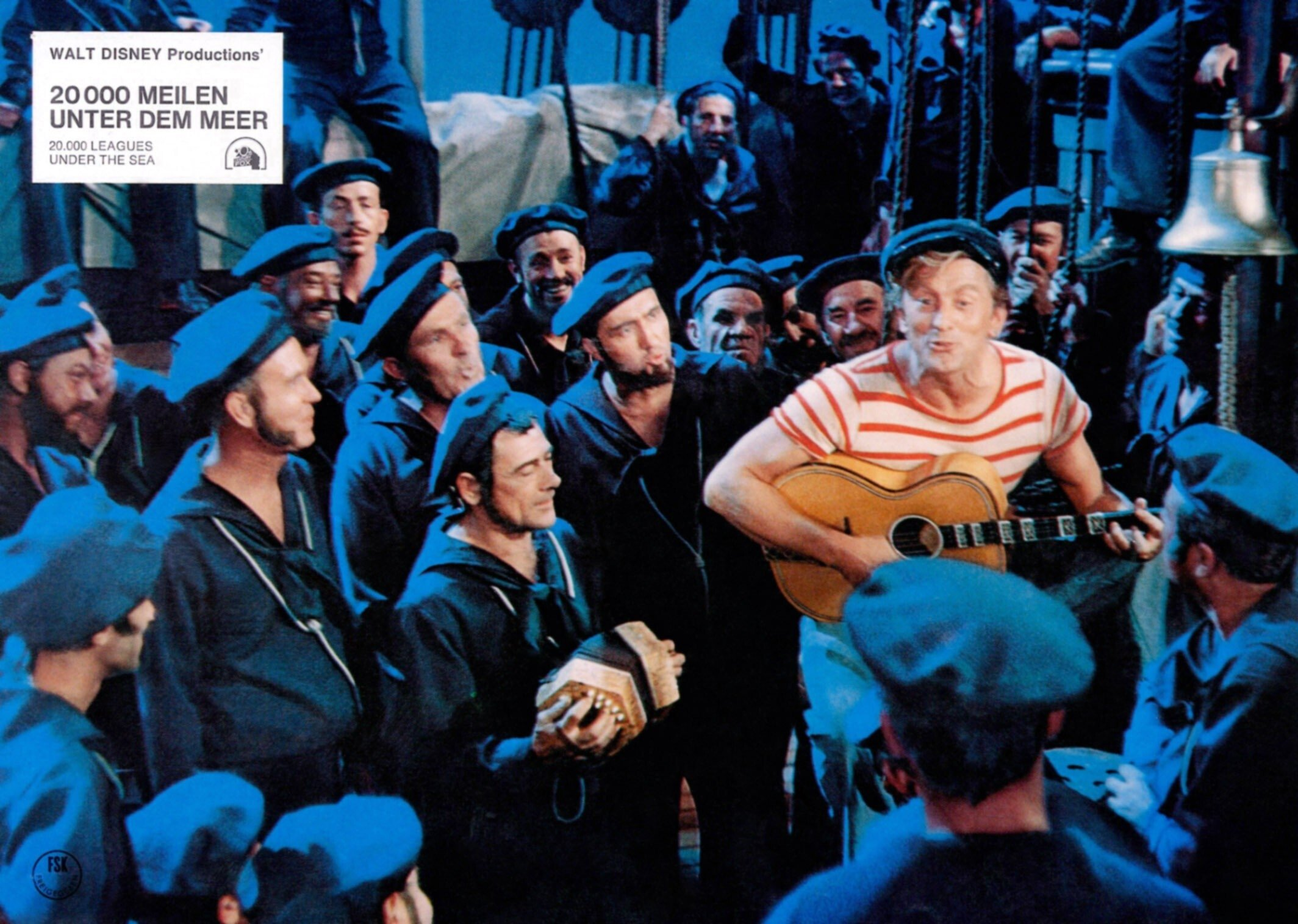 Kirk Douglas in a scene from '20,000 Leagues Under The Sea.' (Getty Images)