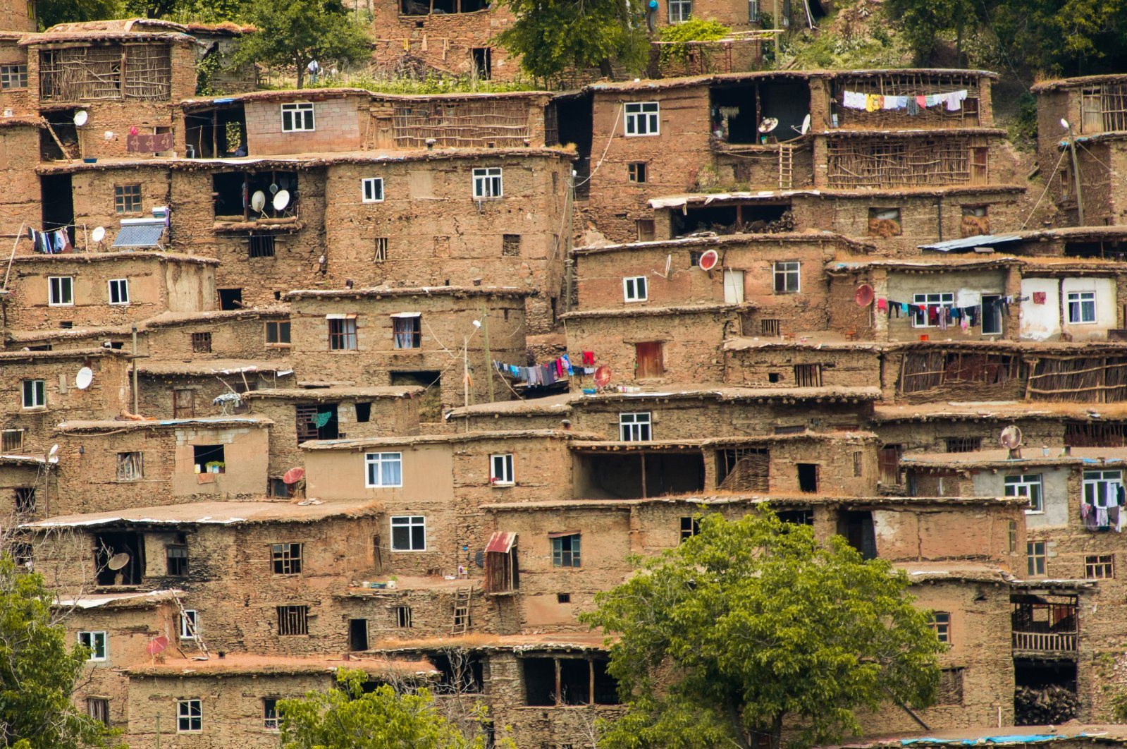 These historic 200- to 300-year-old stone houses are located in the Hizan district of eastern Turkey. (Shutterstock Photo)