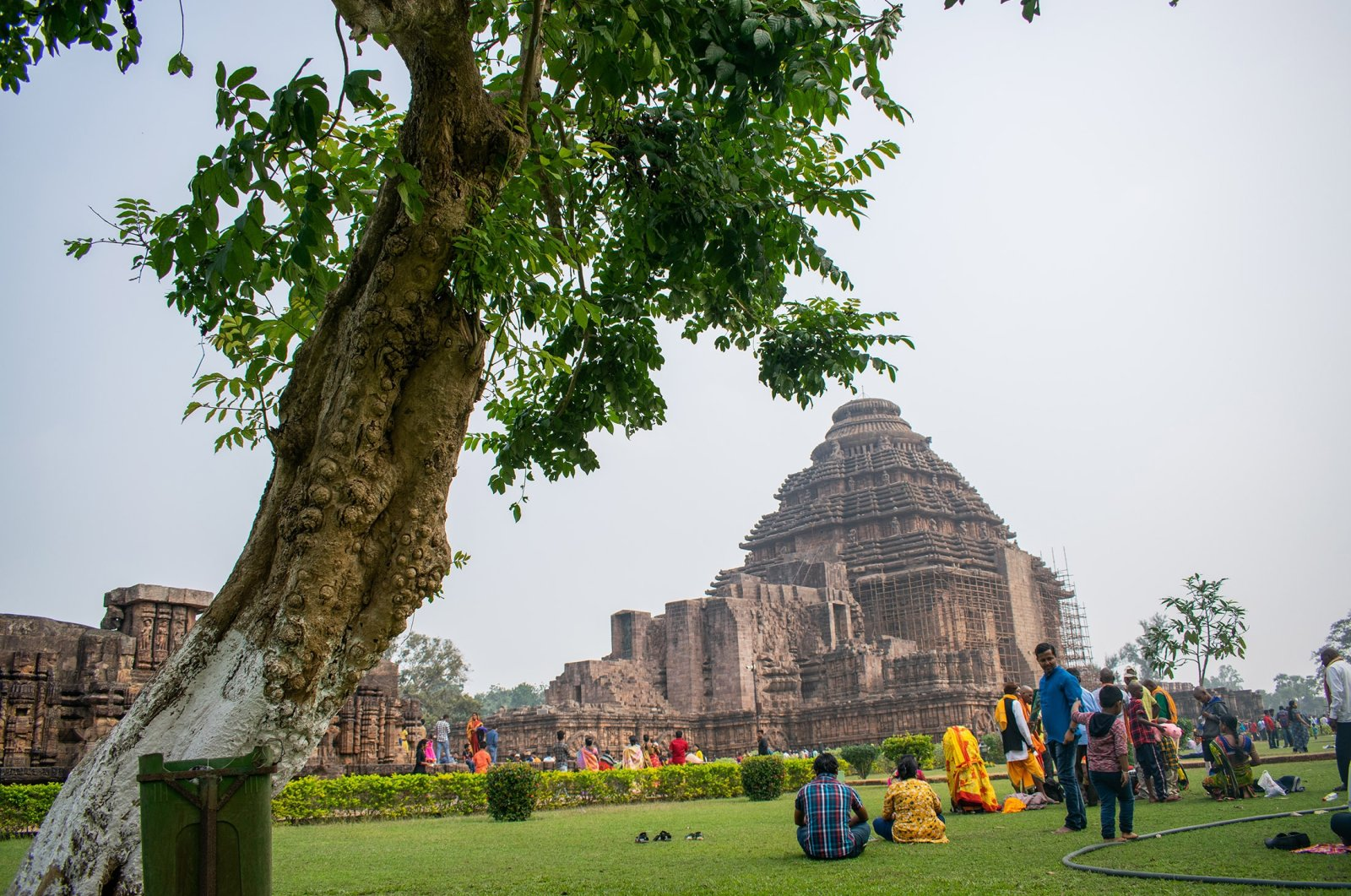 Visitors spend time at the historic Konark Sun Temple, Odisha, India, Oct. 13, 2019. (Photo by Shutterstock)