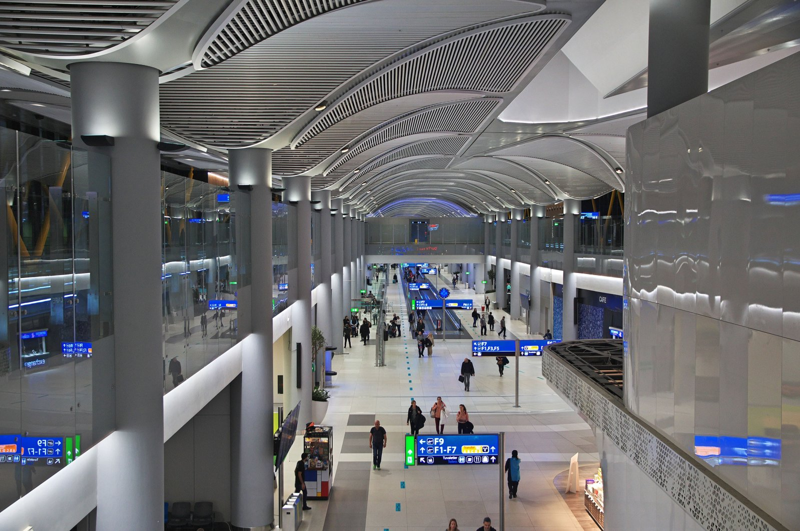 Passengers walk in the Istanbul Airport, Istanbul, Turkey, Dec. 12, 2019. (Shutterstock Photo)