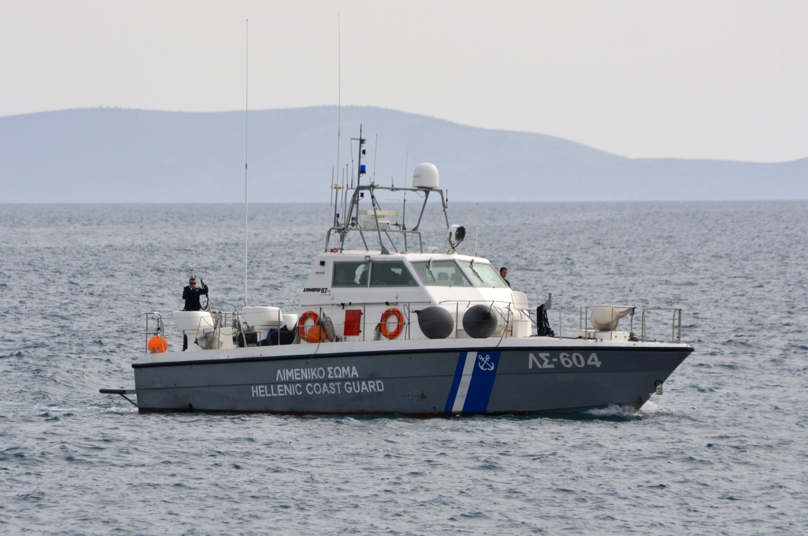 A coast guard vessel arrives with the bodies of migrants at the port of Pythagorio on the eastern Greek island of Samos, Saturday, March 17, 2018. (AP File Photo)