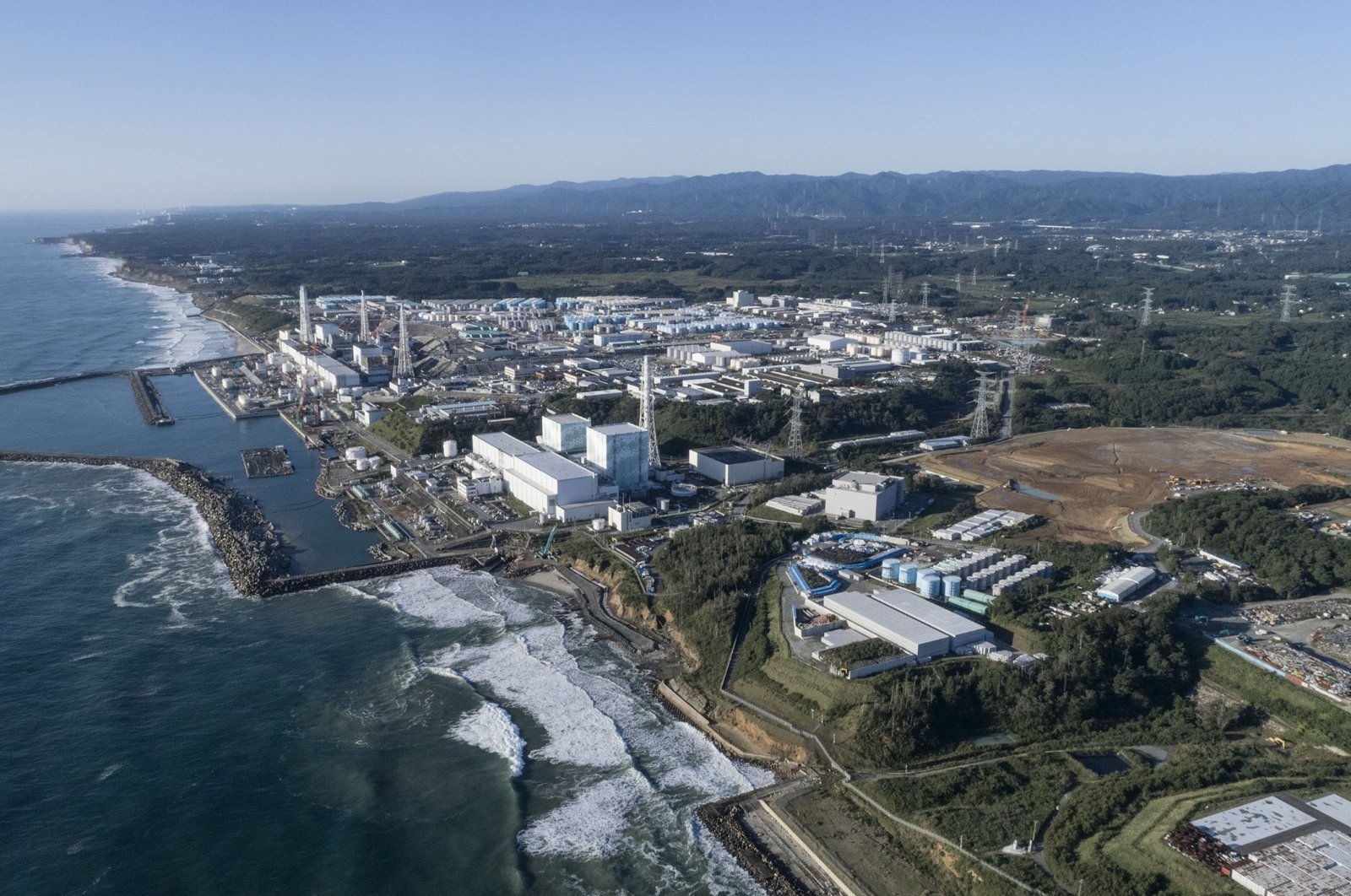 Aerial view from north of Fukushima Daiichi Nuclear Power Plant. (Getty Images)