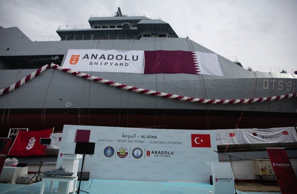 The QTS 91 Al Doha during the delivery ceremony held in Istanbul, Turkey, Aug. 25, 2021. (Courtesy of Anadolu Shipyard)