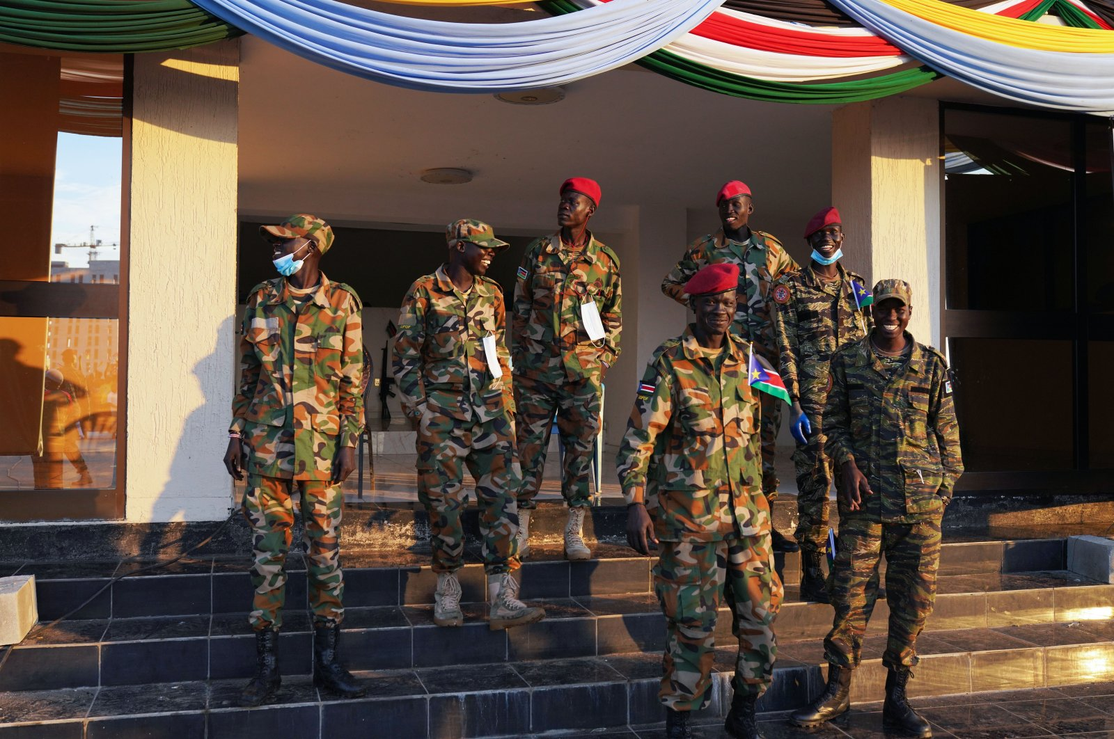 SSPDF (South Sudan People's Defence Force) soldiers are seen during the country's 10th anniversary since independence, Juba, South Sudan, on July 9, 2021. (Getty Images)