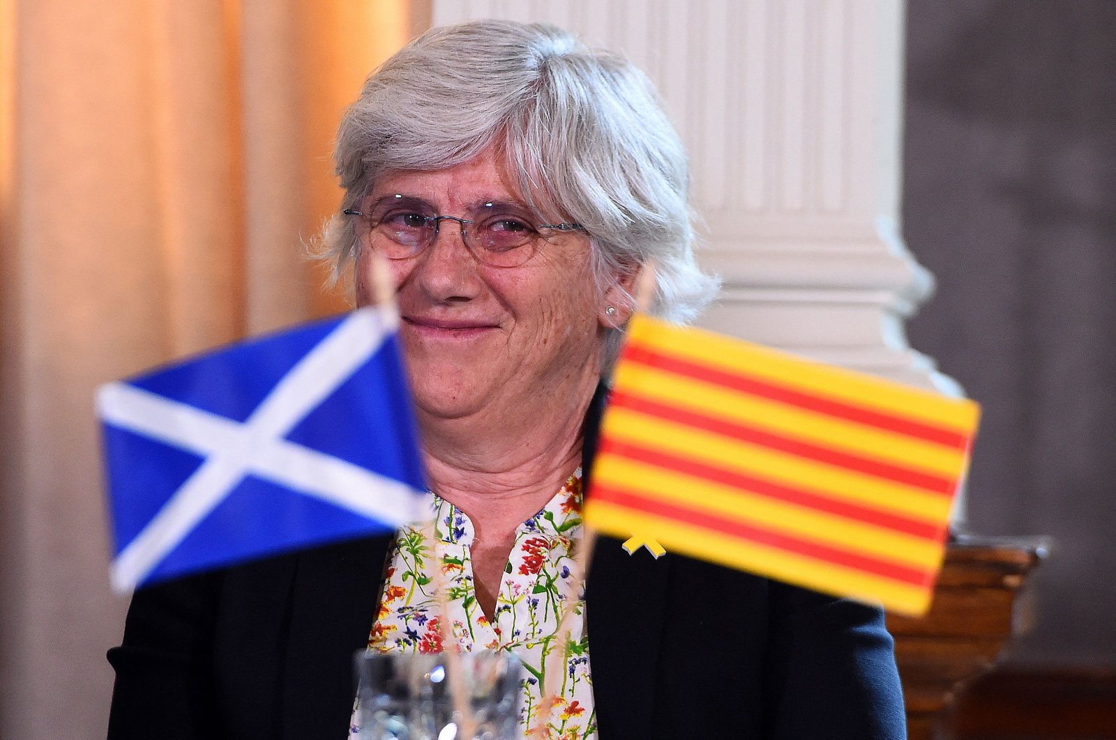 Catalonia's former Education Minister Clara Ponsati attends a press conference in Edinburgh, Scotland, July 11, 2018. (AFP Photo)