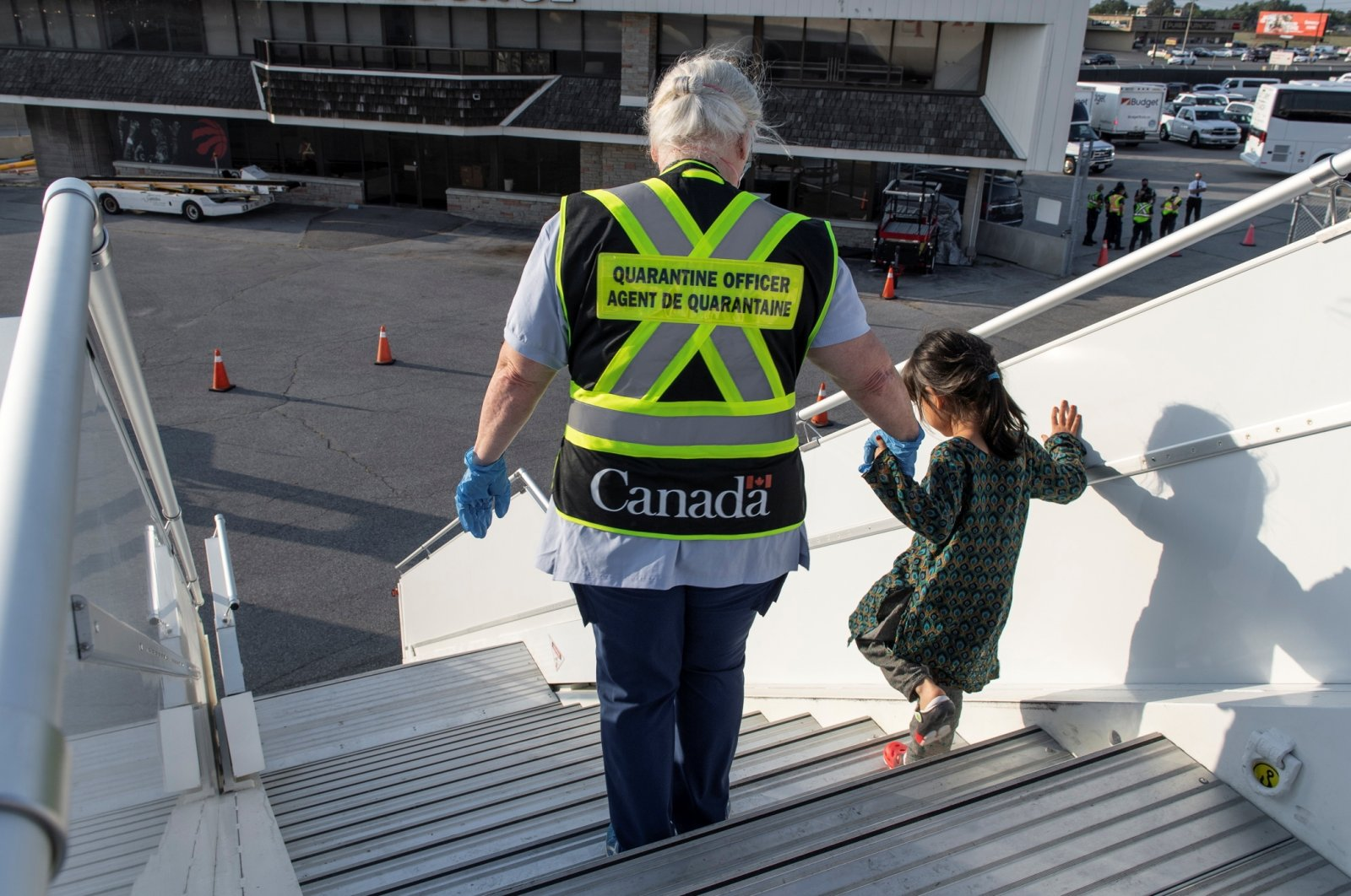 Afghan refugees who supported Canada's mission in Afghanistan arrive at Toronto Pearson International Airport, Canada, Aug. 24, 2021. (Reuters Photo)