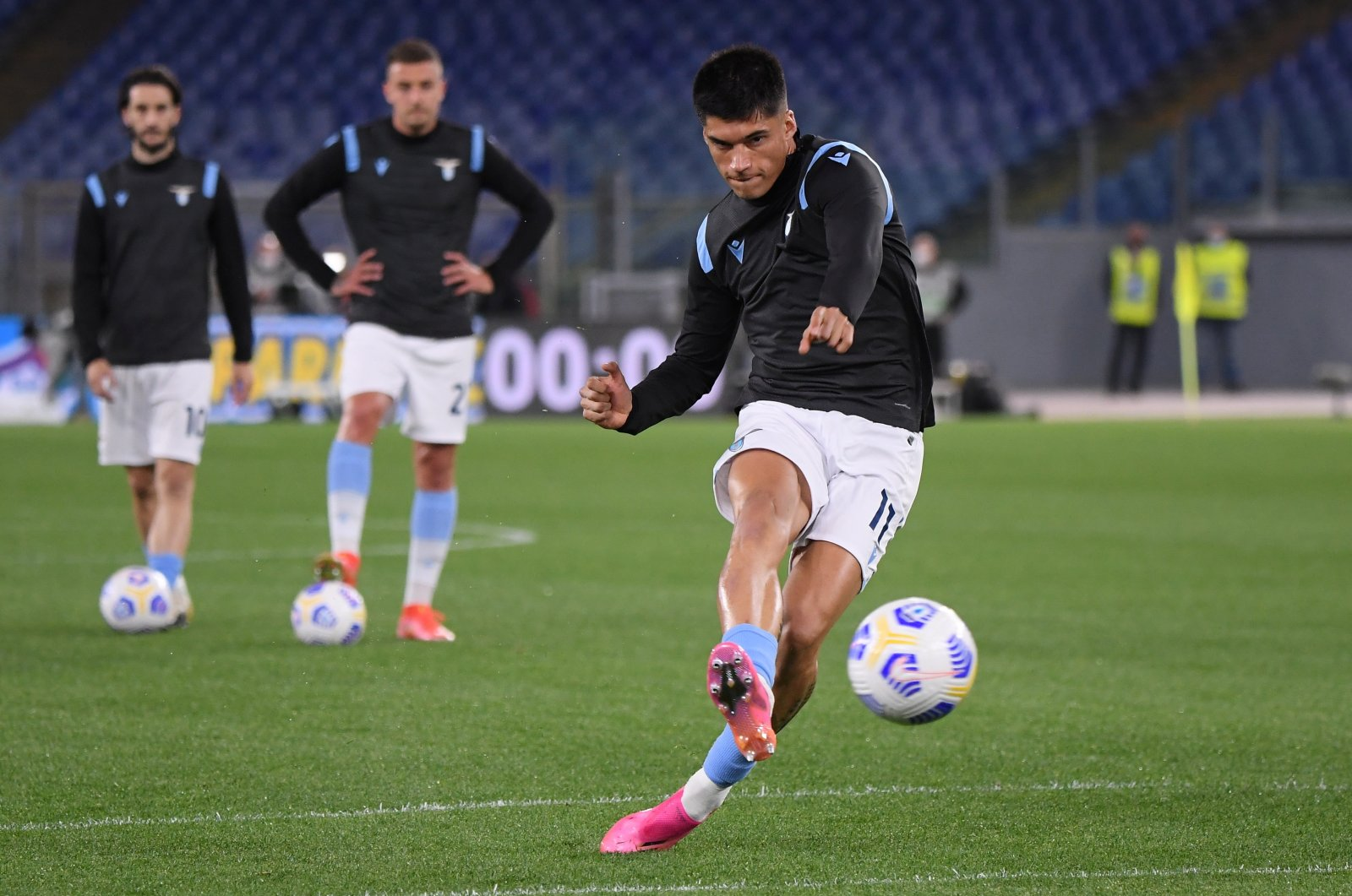Lazio's Joaquin Correa during warmup before a Serie A match against AC Milan, Stadio Olimpico, Rome, Italy, April 26, 2021. (Reuters Photo)