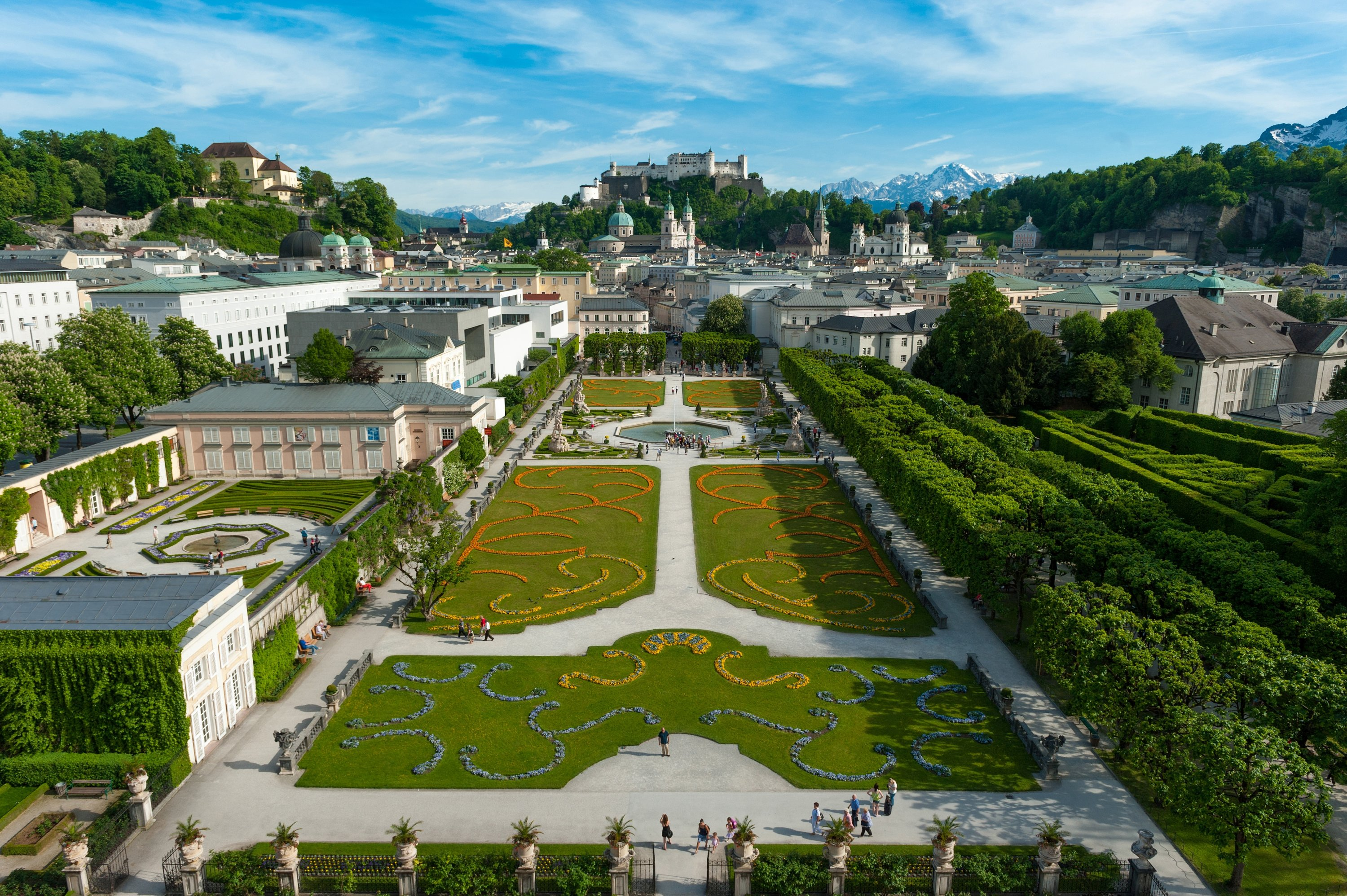 The Mirabell Gardens are one of the most popular sights in Salzburg. (G.Breitegger/Tourismus Salzburg GmbH/dpa Photo)