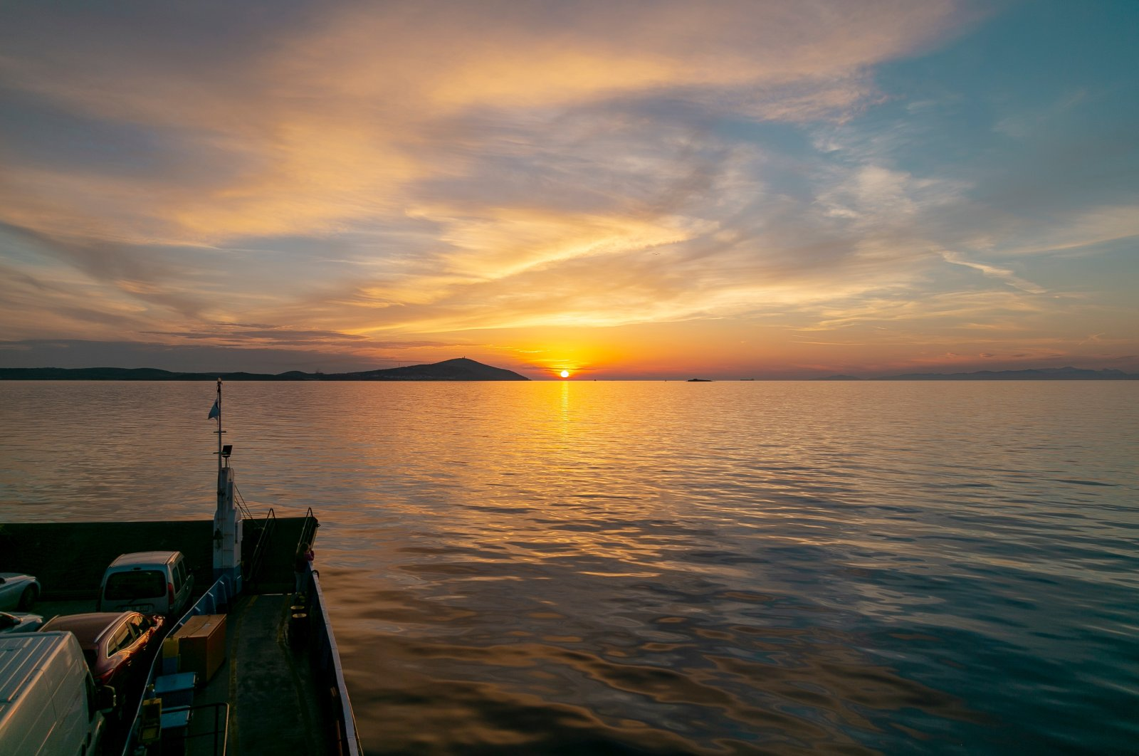 A Geyikli ferryboat transports cars and passengers to Bozcaada island. (Shutterstock Photo)