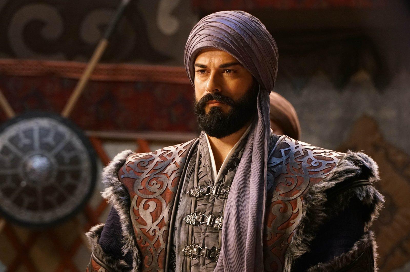 "Burak Özçivit as Osman I in a still shot from ""Kuruluş Osman"" (""The Ottoman"")."