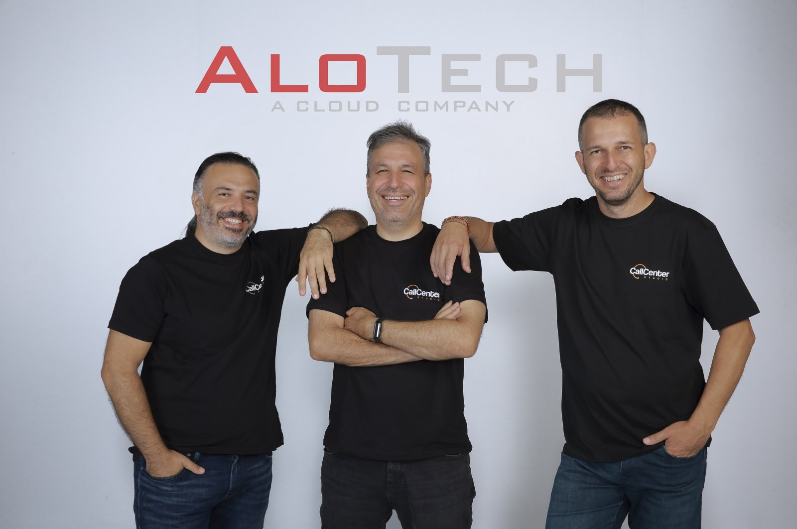 From left to right, AloTech founders Idris Avcı, Cenk Soyak and Korhan Erçin.