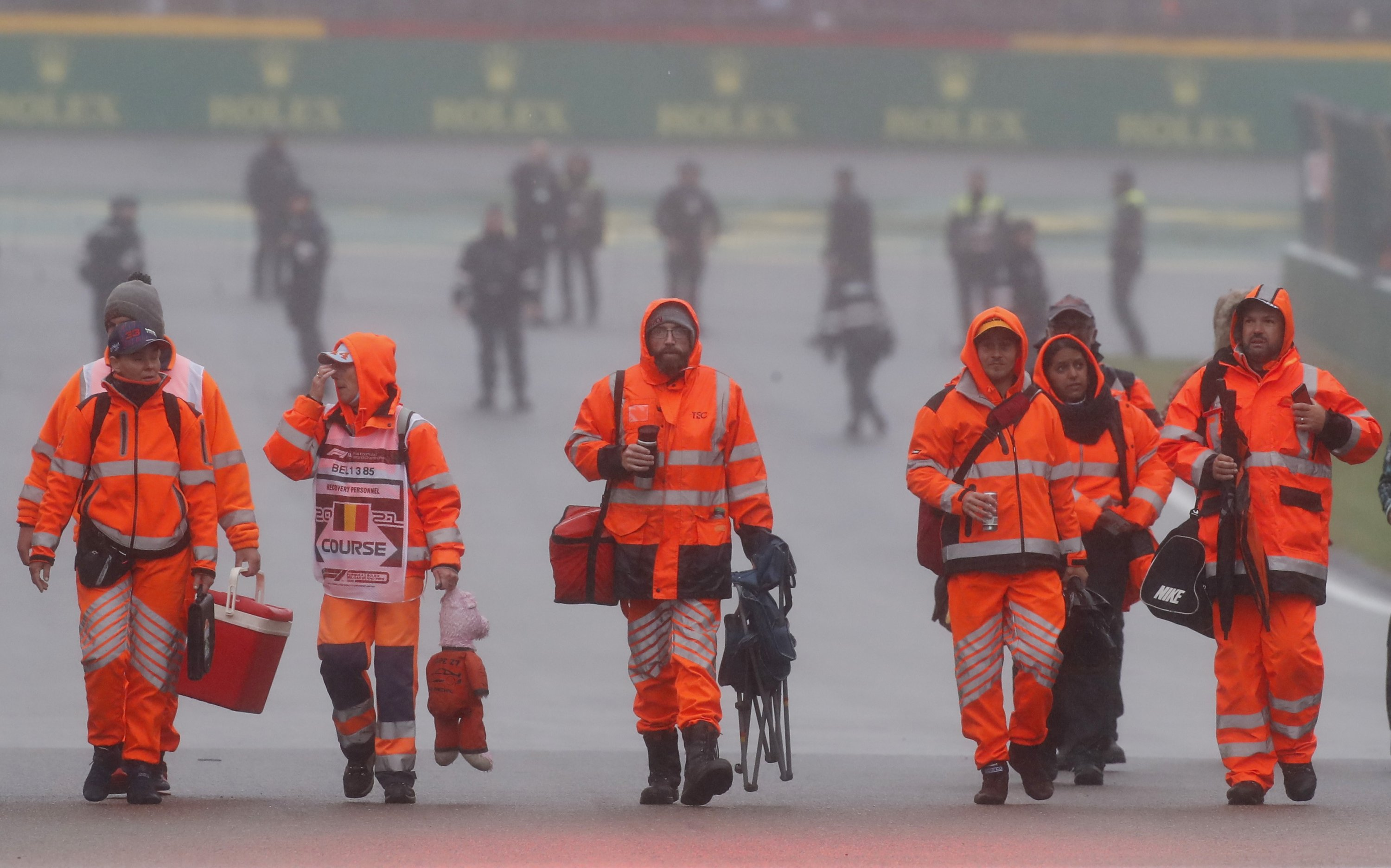 Formula One F1, Belgian Grand Prix, takes place under heavy rain in Spa-Francorchamps, Spa, Belgium, Aug. 29, 2021. (REUTERS Photo)