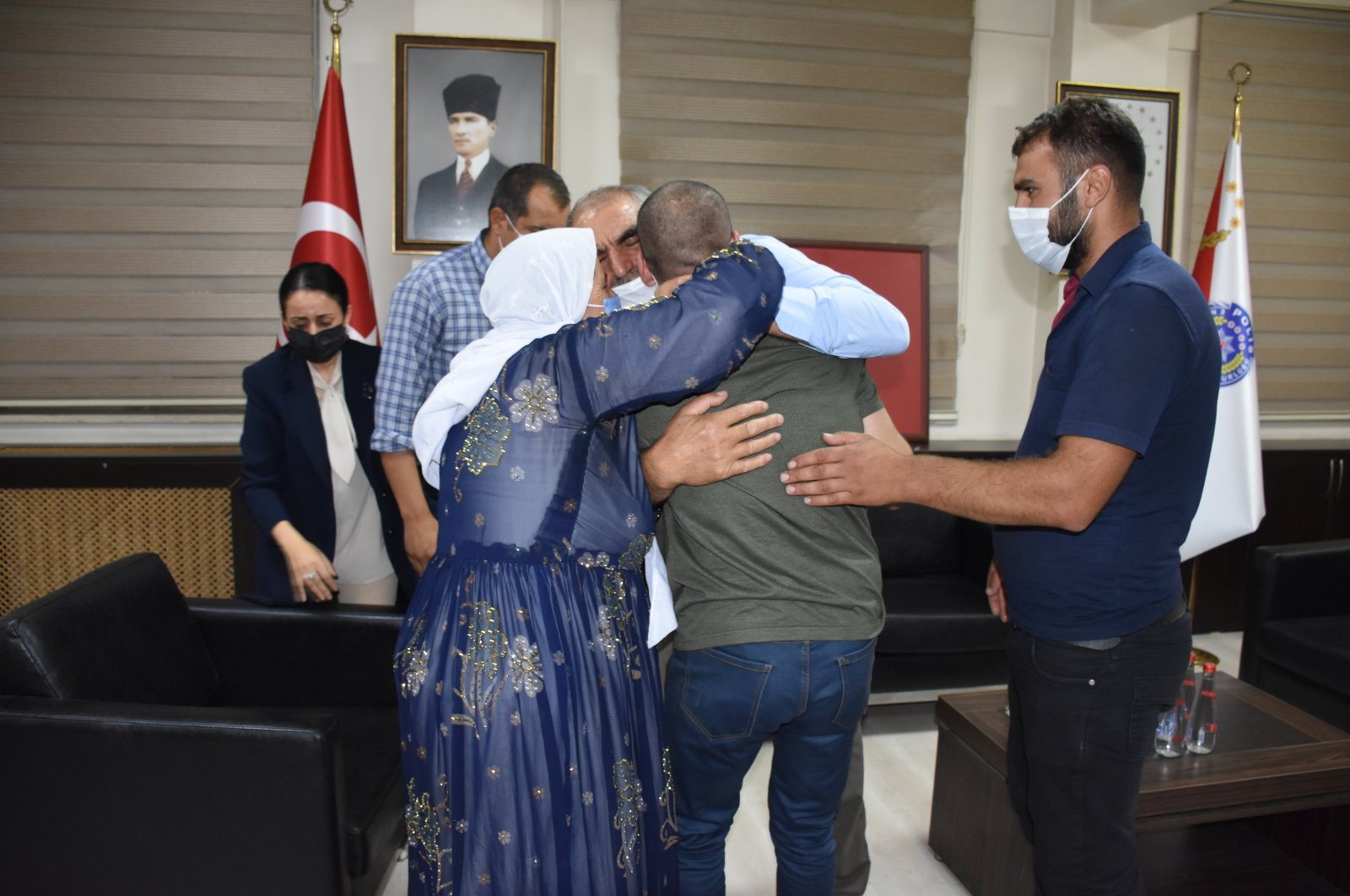 Another family protesting the PKK has been reunited with their child, Şırnak, Turkey, Aug. 29, 2021 (AA Photo)