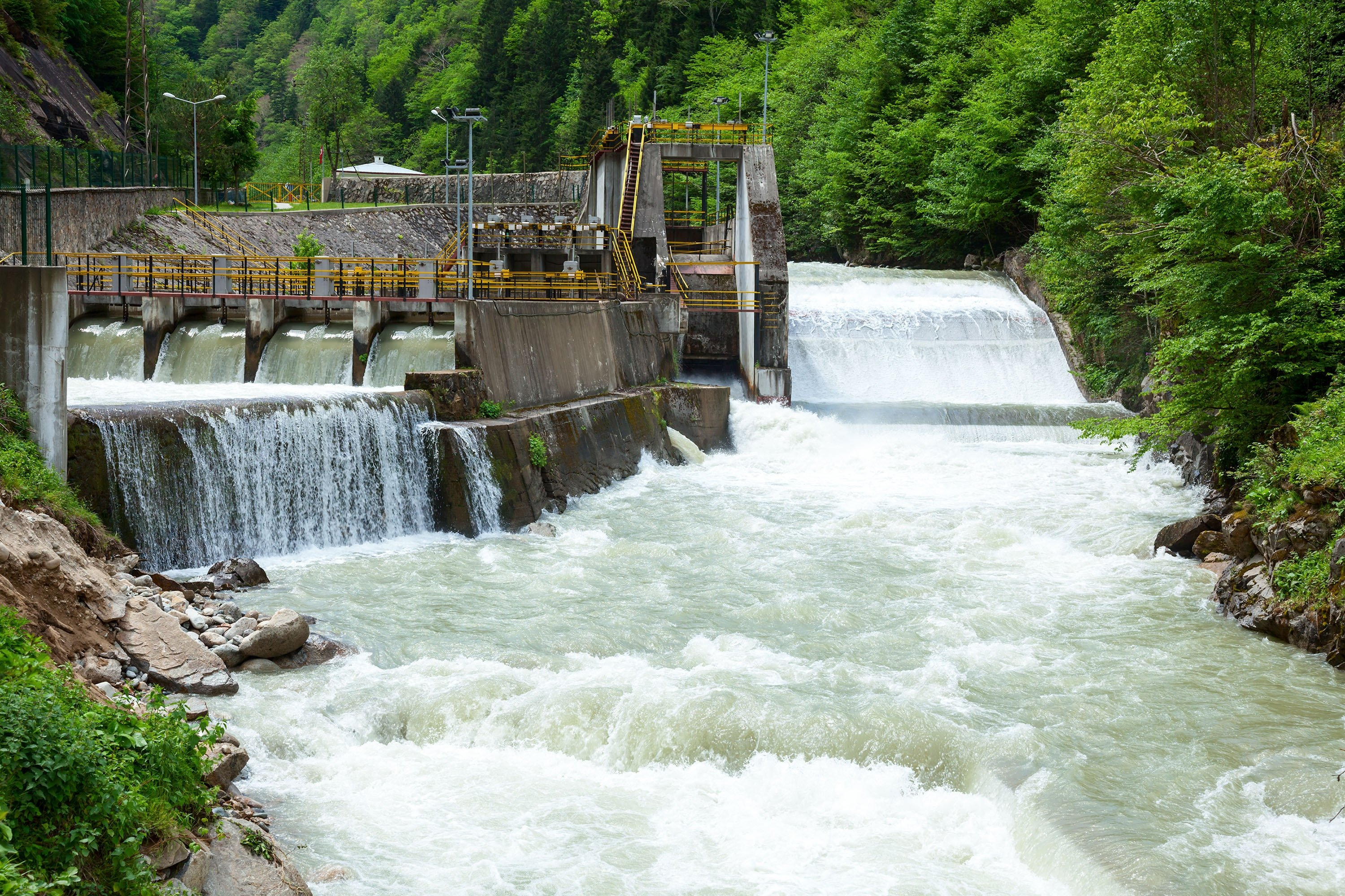 A small hydroelectrical power plant in Turkey. (Shutterstock Photo)