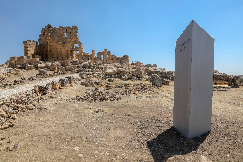 Un monolit misterios reapare în sud-estul Turciei.  (Fotografie AA)