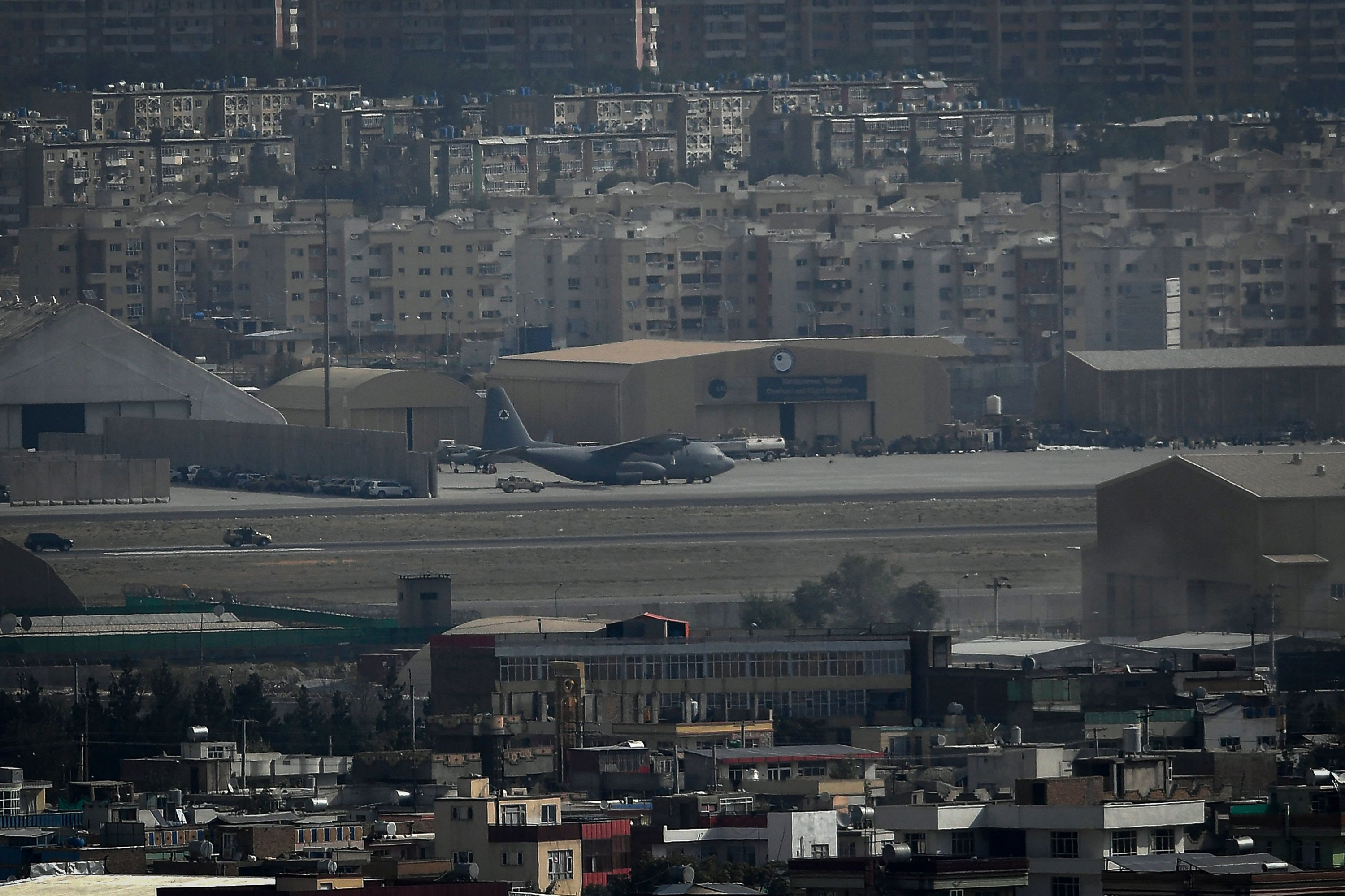 An aircraft is pictured at the airport after the U.S. pulled all its troops out of the country to end a brutal 20-year war, Kabul, Afghanistan, Aug. 31, 2021. (AFP Photo)