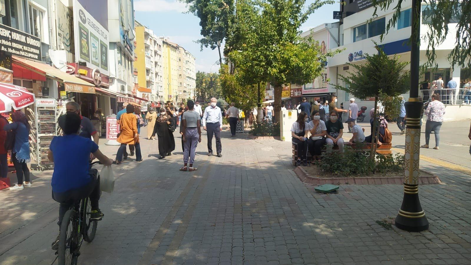 A view of a street in Kütahya, western Turkey, Aug. 31, 2021. (İHA PHOTO)