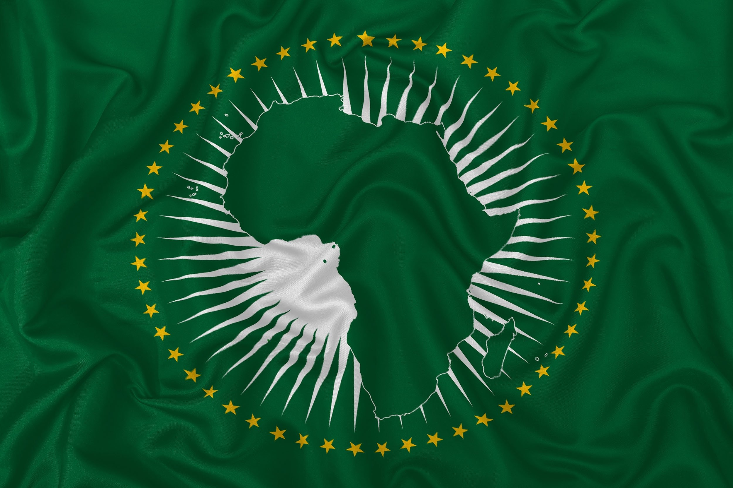 3D illustration of African Union flag. (Shutterstock Photo)