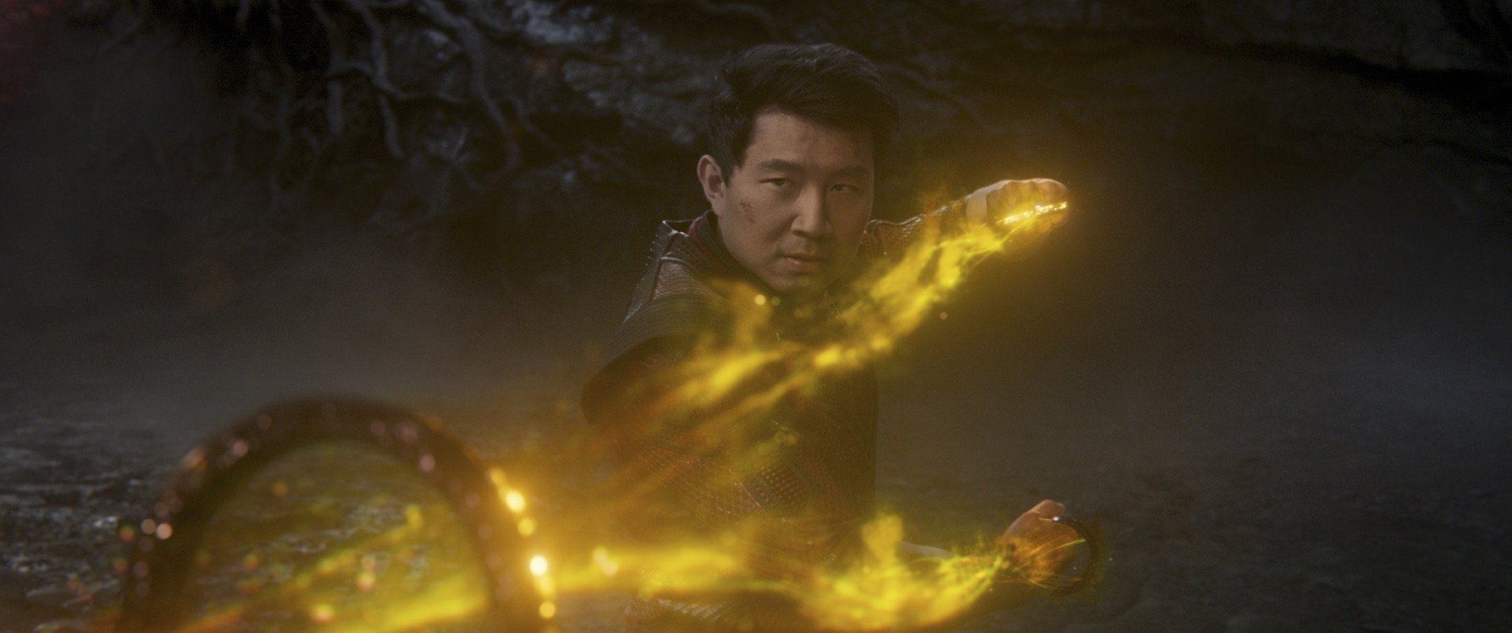 """Simu Liu, in a scene from the film """"Shang-Chi and the Legend of the Ten Rings."""" (Marvel Studios via AP)"""