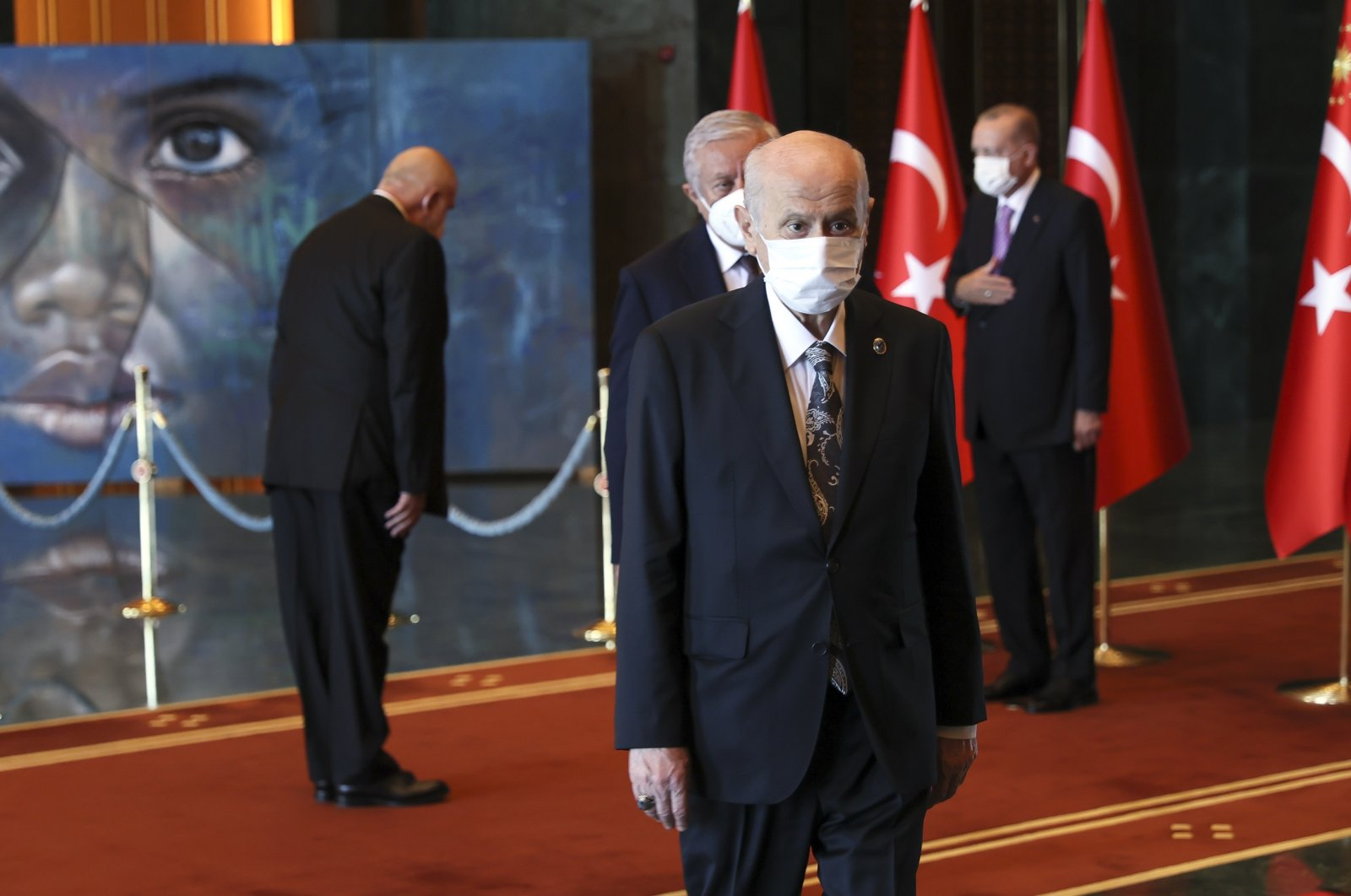 The Nationalist Movement Party (MHP) Chair Devlet Bahçeli, Ankara, Turkey, Aug. 30, 2021. (AA Photo)