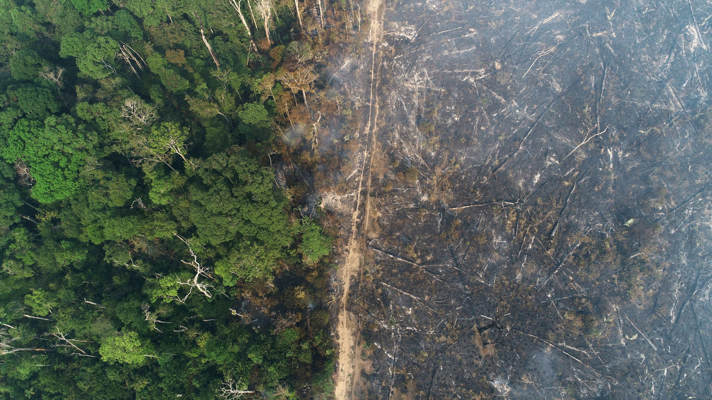 A general view of a tract of the Amazon jungle, which burns as it is cleared by loggers and farmers near Apui, Amazonas State, Brazil, Aug. 11, 2020. (Reuters Photo)