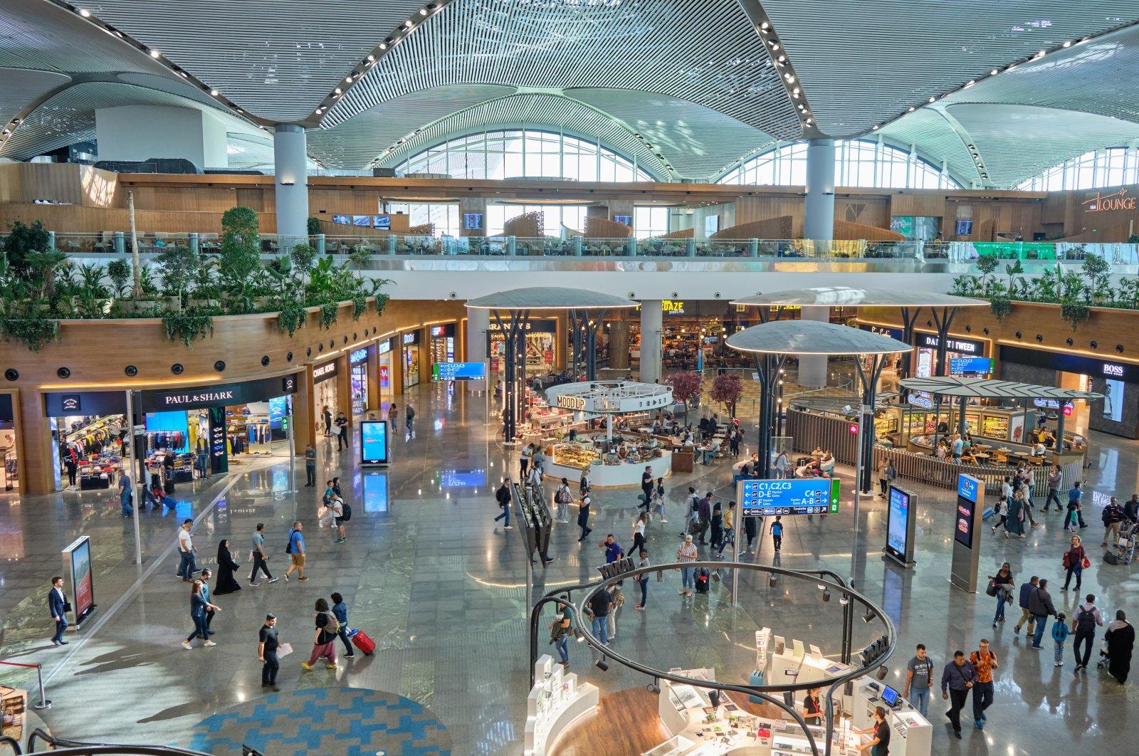 Istanbul Airport's international departures terminal. (Shutterstock Photo)