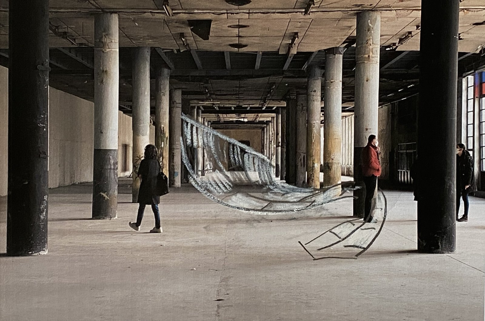 "Hera Büyüktaşçıyan, ""Skindeep,"" 2011-2021, carpet and wood installation. (Courtesy of Protocinema)"