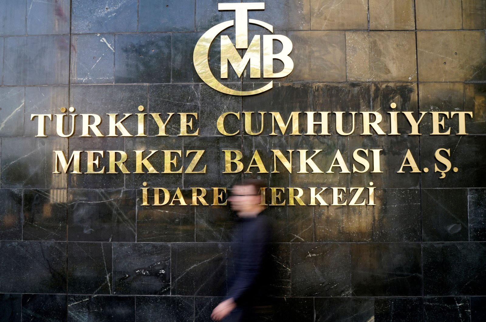 A man leaves the Central Bank of the Republic of Turkey (CBRT) headquarters in Ankara, Turkey, April 19, 2015. (Reuters Photo)
