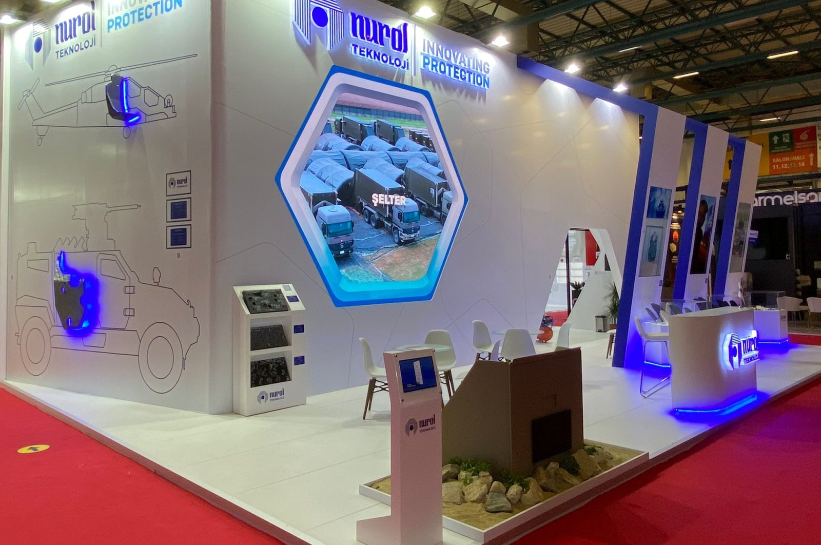 Nurol Technology displayed its products at the IDEF 2021, held between Aug. 17-20, Istanbul, Turkey. (AA Photo)