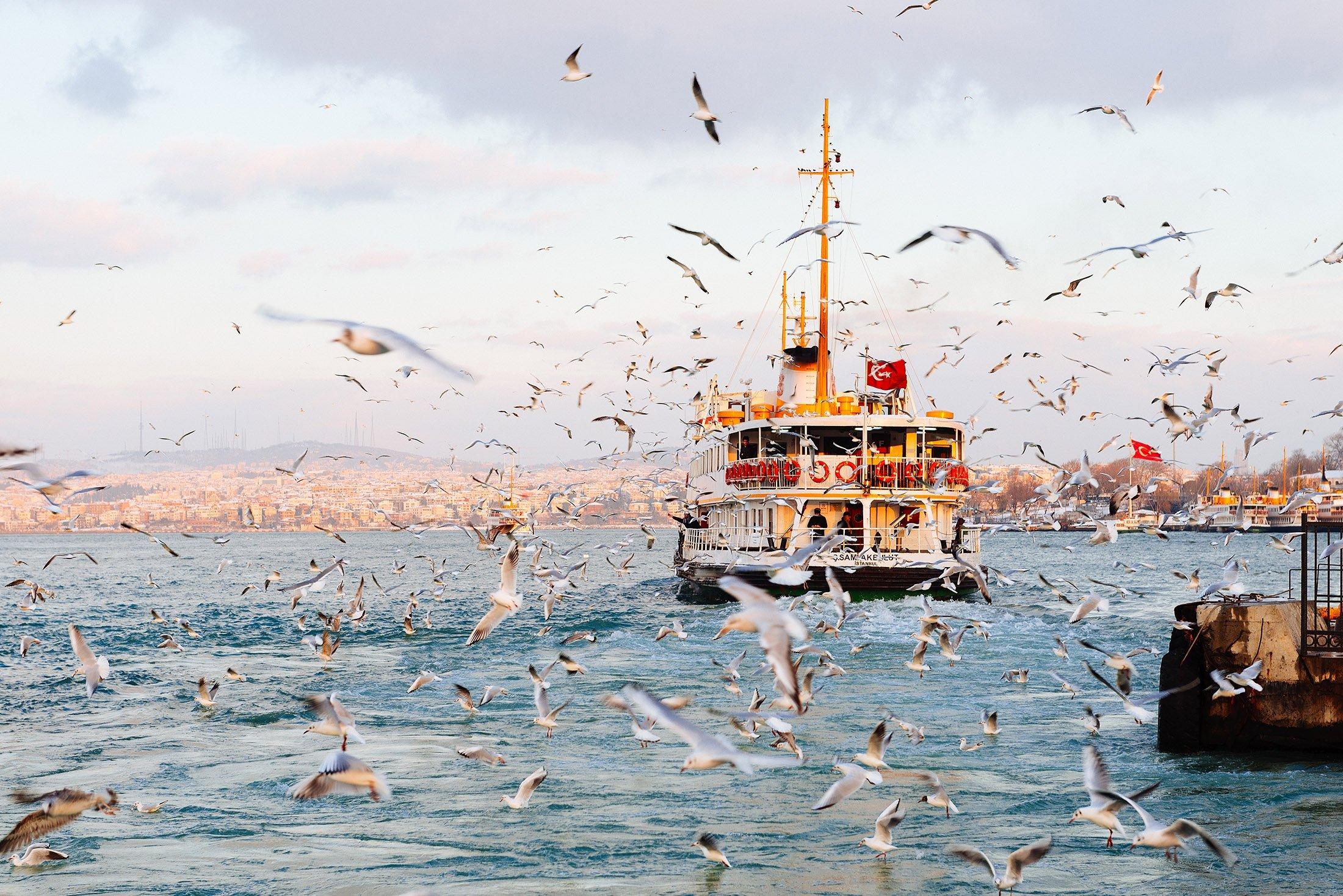 A ferry chugging through the Bosporus, Istanbul. (Shutterstock Photo)