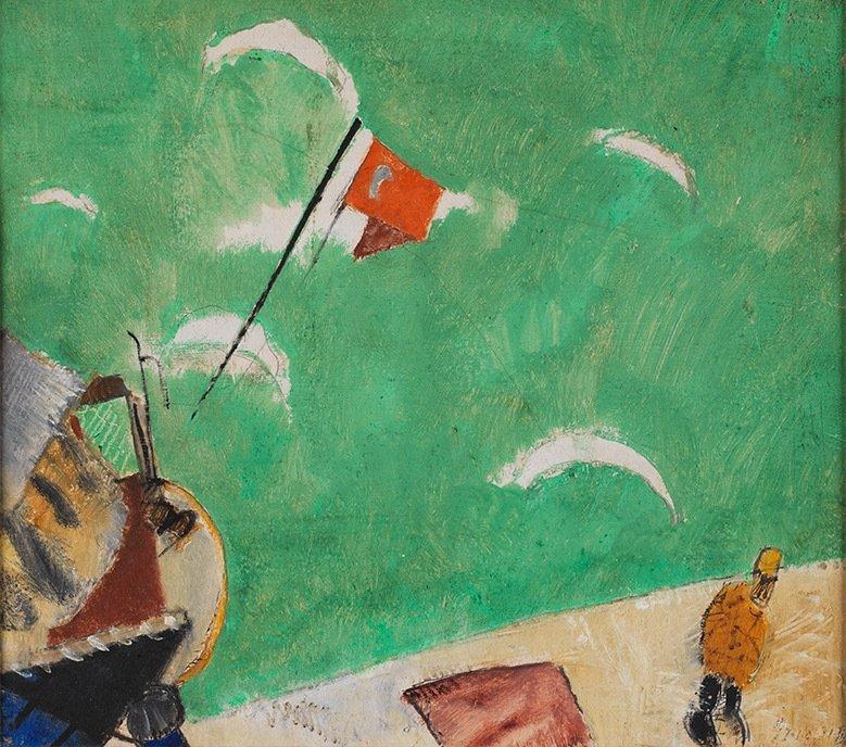 "Alexis Gritchenko, ""Golden Horn,"" 1921, gouache on paper, Ömer Koç collection, Turkey."
