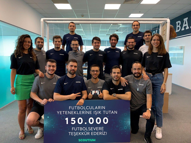 Team members of Scoutium, a Turkish digital scouting platform.