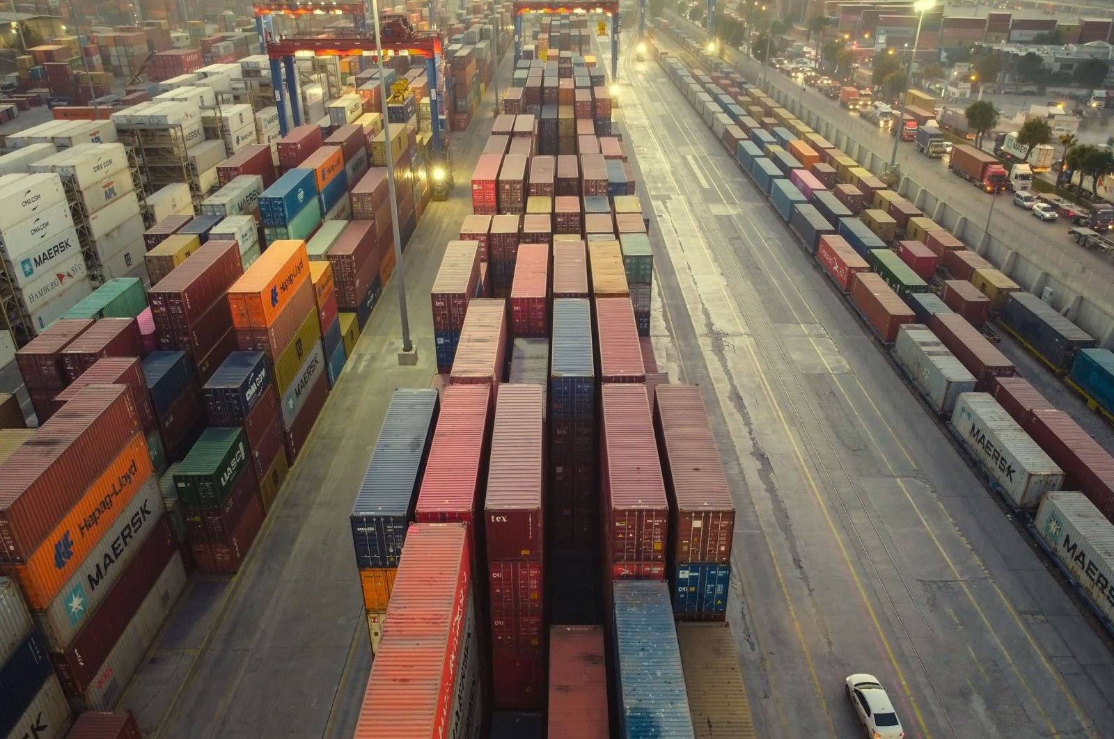 A cargo container warehouse at the Mersin International Port, Mersin, southern Turkey, December 2020. (Shutterstock Photo)