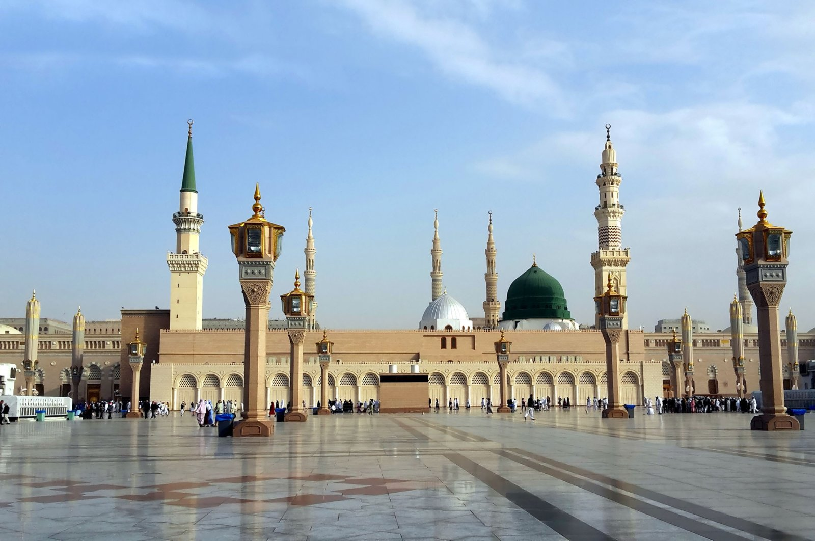 Al-Masjid al-Nabawi, often called the prophet's mosque, is the second holiest site in Islam in Medina, Saudi Arabia, Feb. 8, 2017. (Shutterstock Photo)
