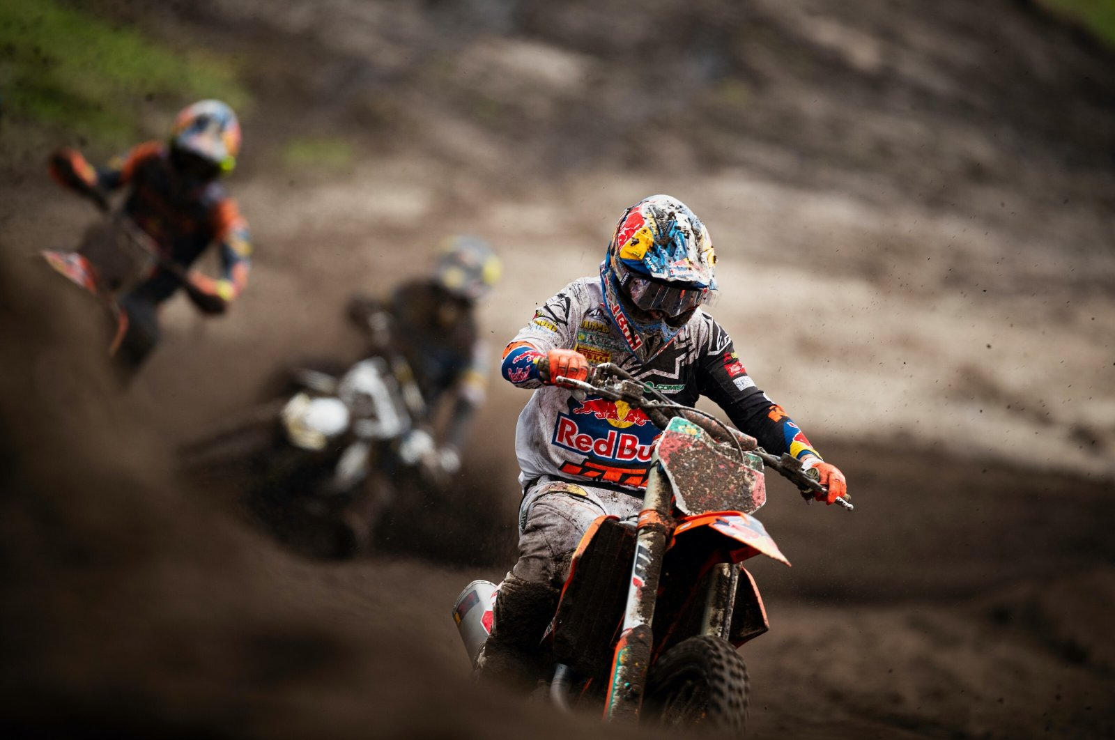 The Netherlands' Jeffrey Herlings competes during the FIM MXGP Motocross World Championship in Valkenswaard, the Netherlands, March 7, 2020. (IHA Photo)