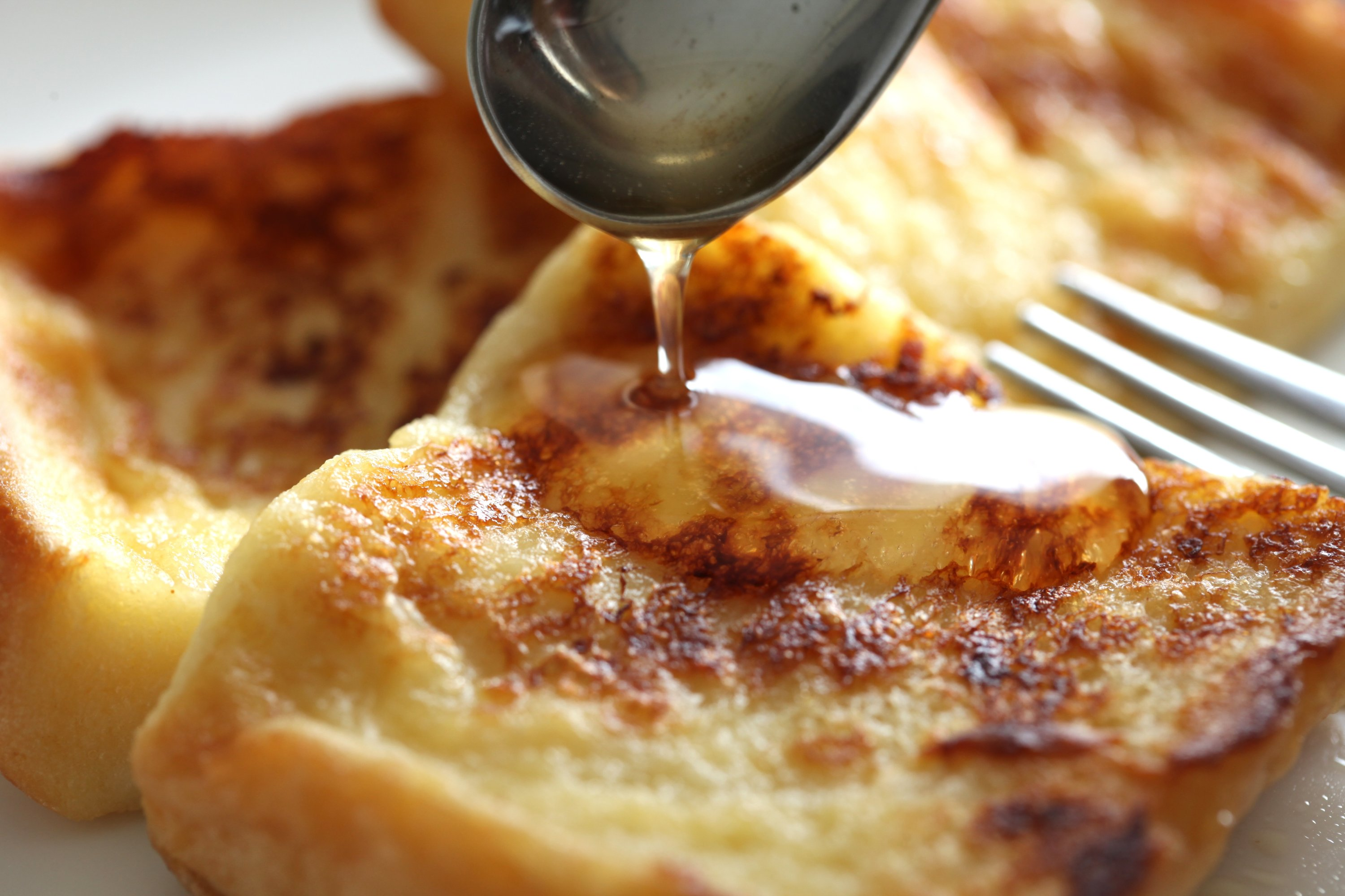 French toast and honey.