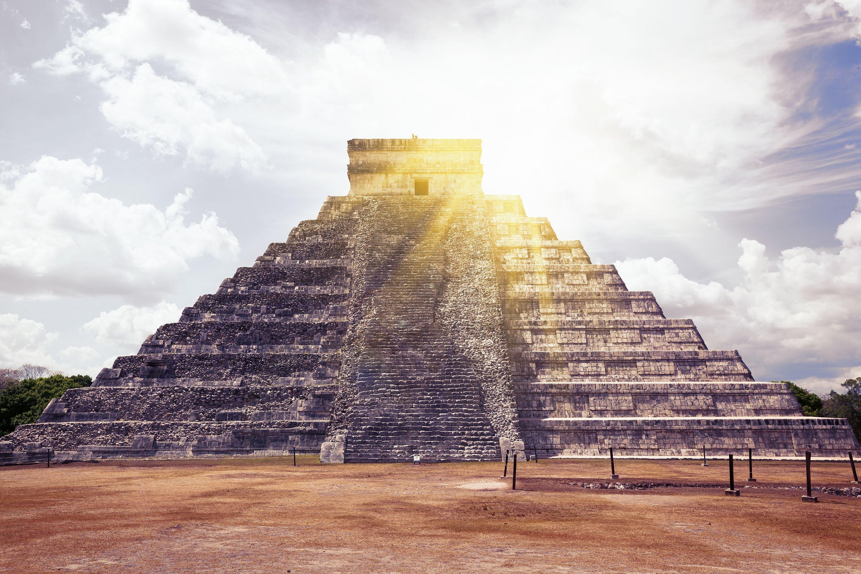 El Castillo (The Kukulkan Temple) of Chichen Itza, Mayan pyramid in Yucatan, Mexico. (Shutterstock Photo)