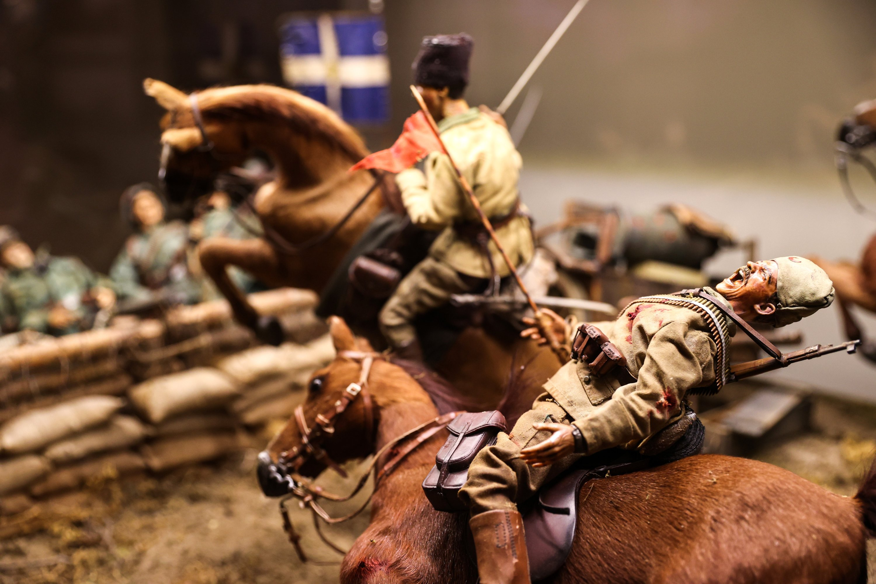 A diorama describing the War of Independence on display at the exhibition in the Istanbul Cinema Museum. (AA Photo)
