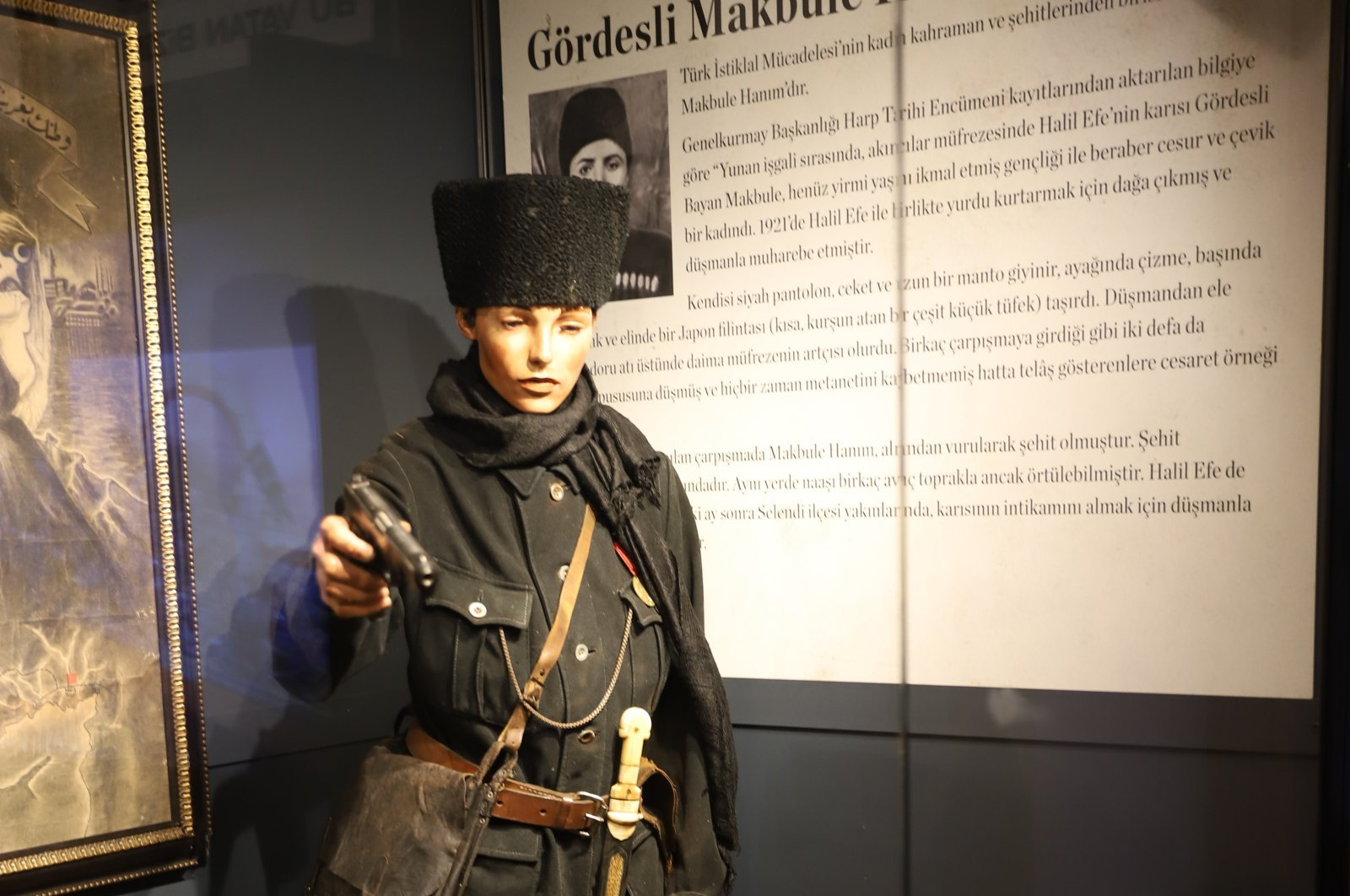 A model of a Turkish heroine on display at the exhibition in the Istanbul Cinema Museum. (Photo by Meltem Sarsılmaz)