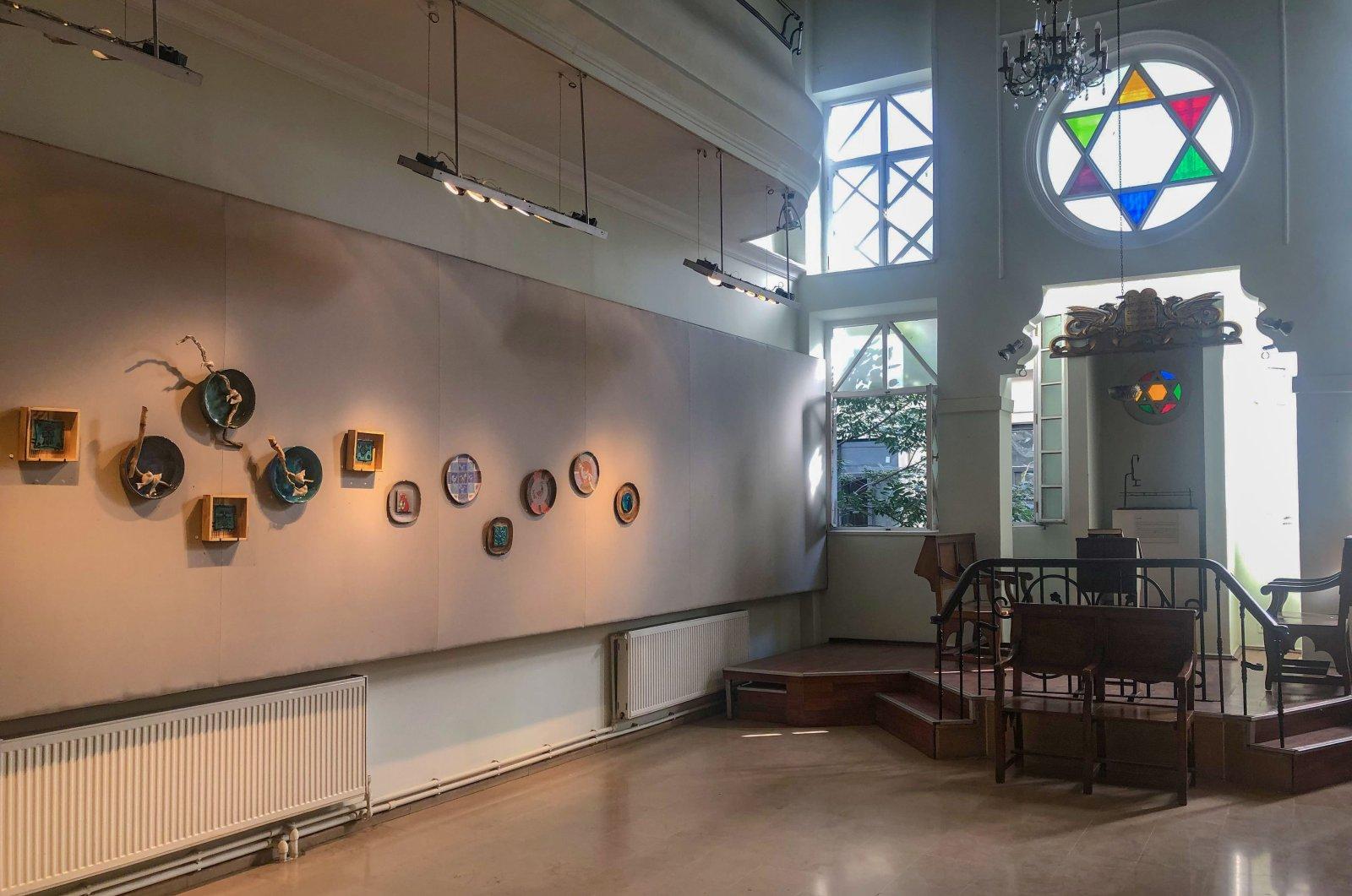 """The entrance to the Schneidertempel art gallery and ceramicist Defne Küçük's """"Bird Frequency"""" exhibition on display, in Istanbul, Turkey. (Photos by Matt Hanson)"""