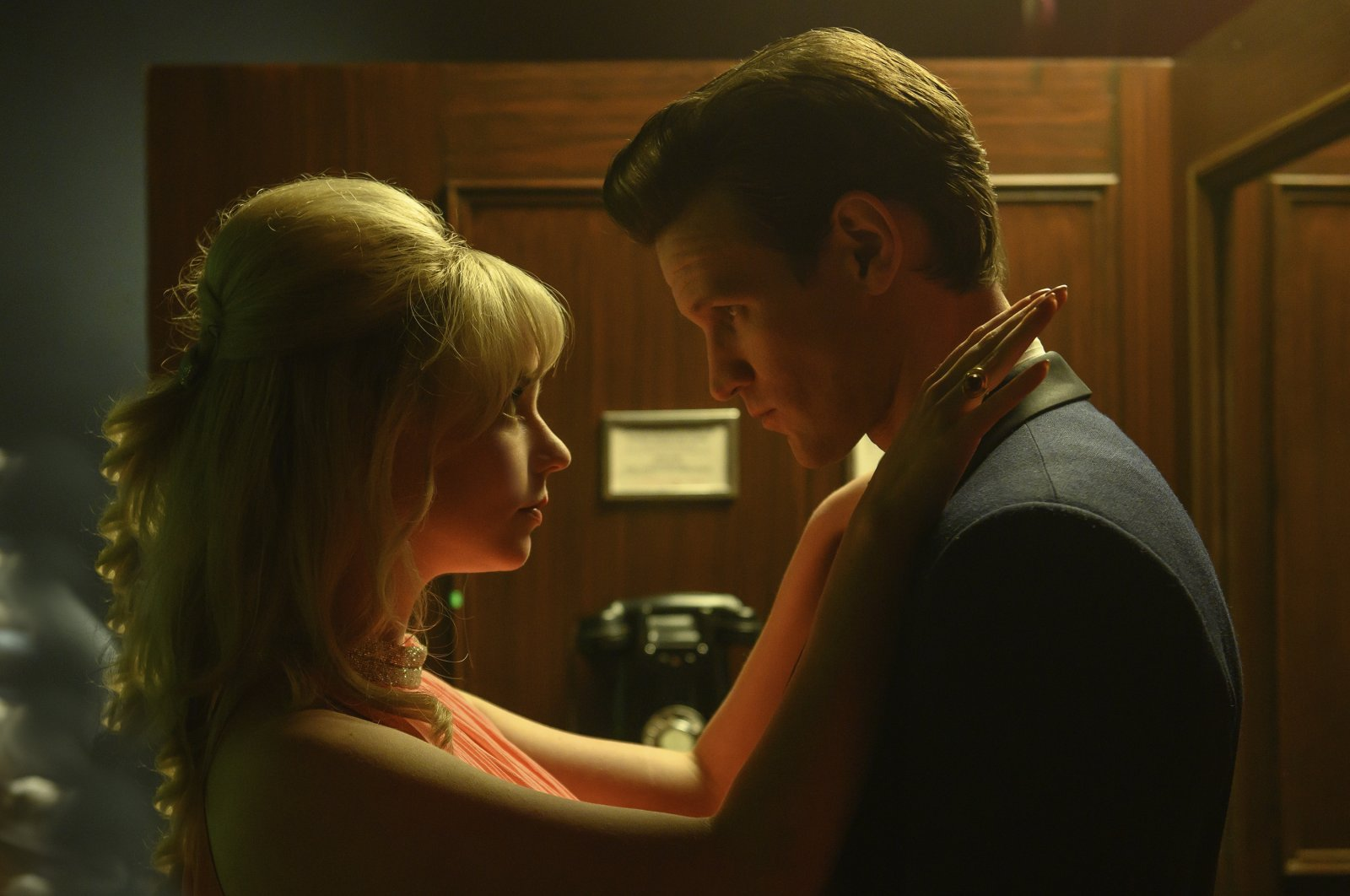"""Anya Taylor-Joy (L), and Matt Smith, in a scene from Edgar Wright's """"Last Night in Soho."""" (Focus Features via AP)"""